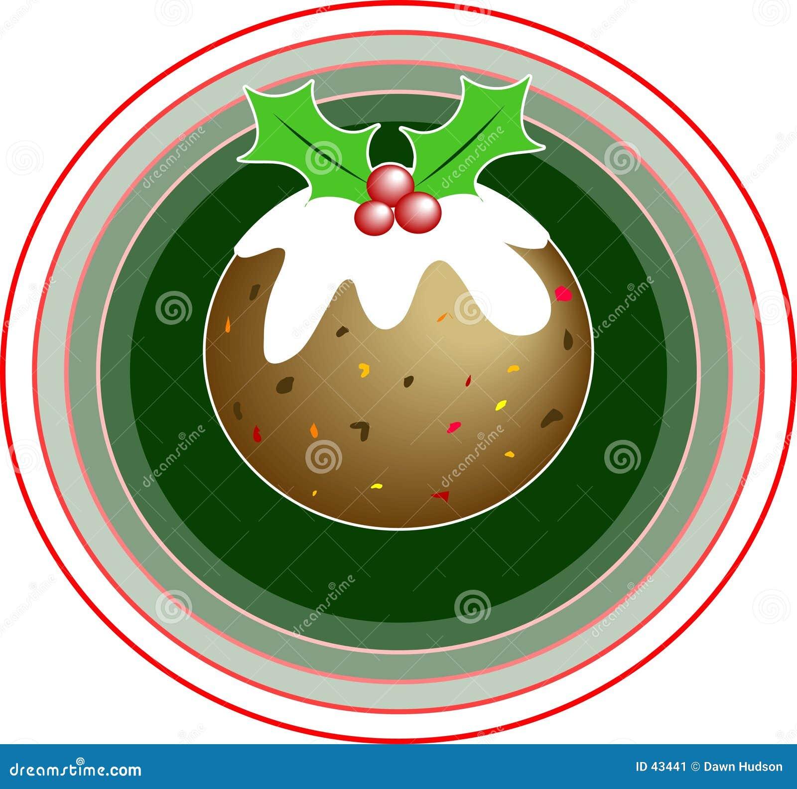 Download Pudín de la Navidad ilustración del vector. Ilustración de dulce - 43441
