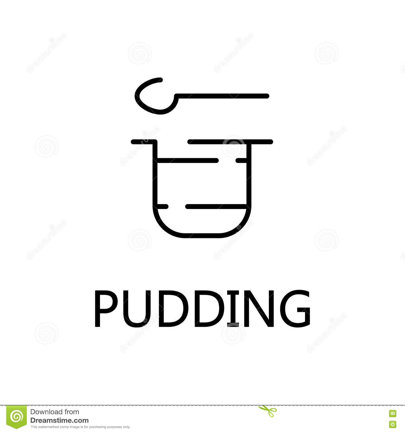 Pudding Flat Icon Or Logo For Web Design Stock Vector