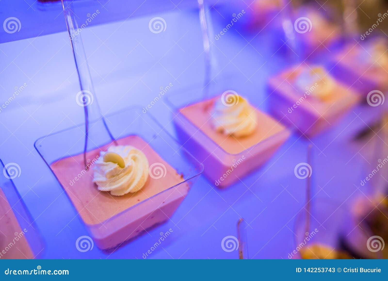 Pudding- und Geleeschokoriegel