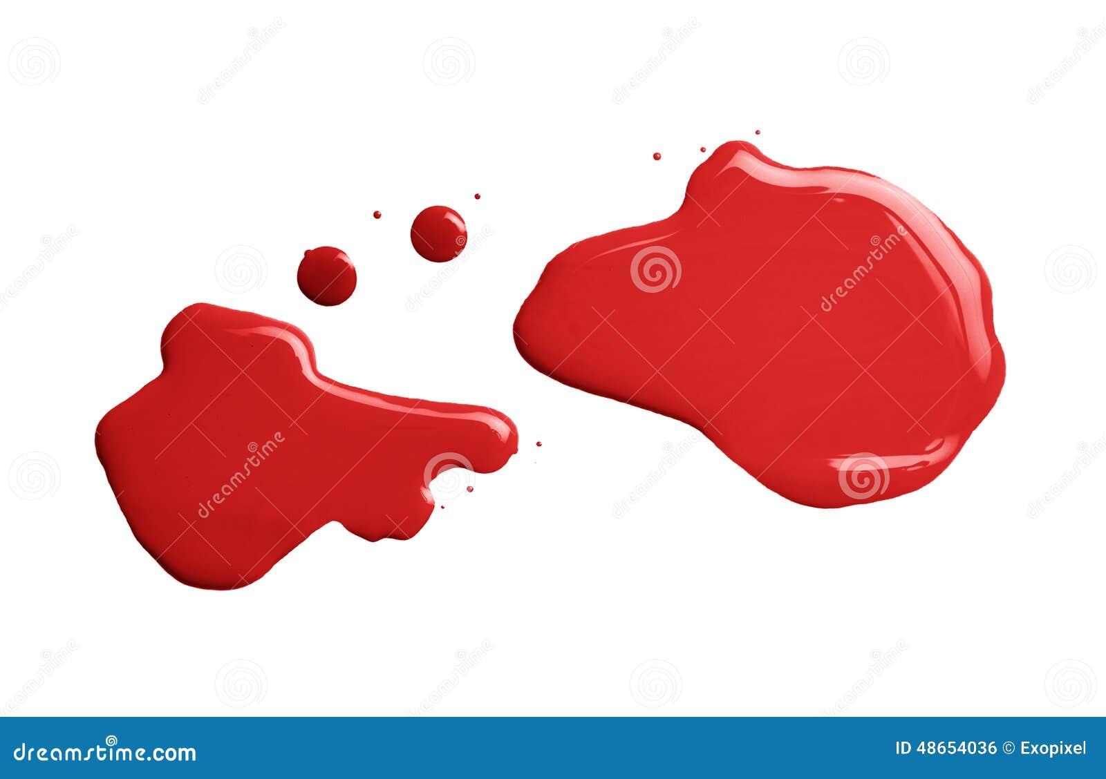 Red Paint Stroke Sample