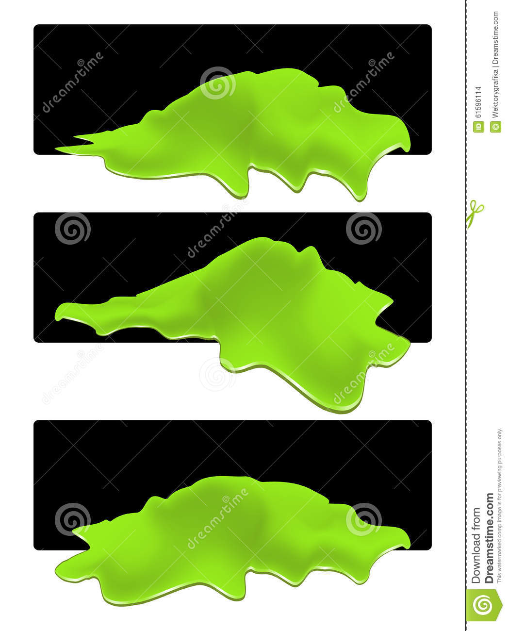 Puddle Of Toxic Spill Web Banner. Green Chemical Stain, Plash ...
