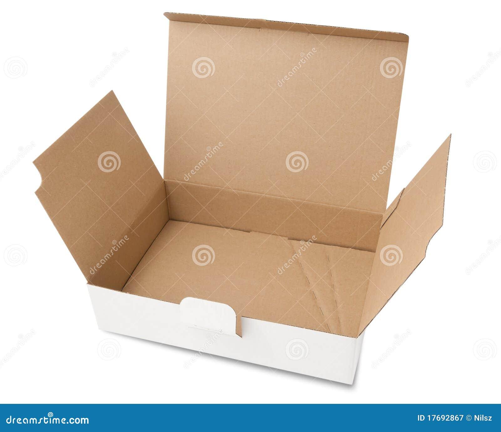 Pudełkowatego kartonu pusty biel