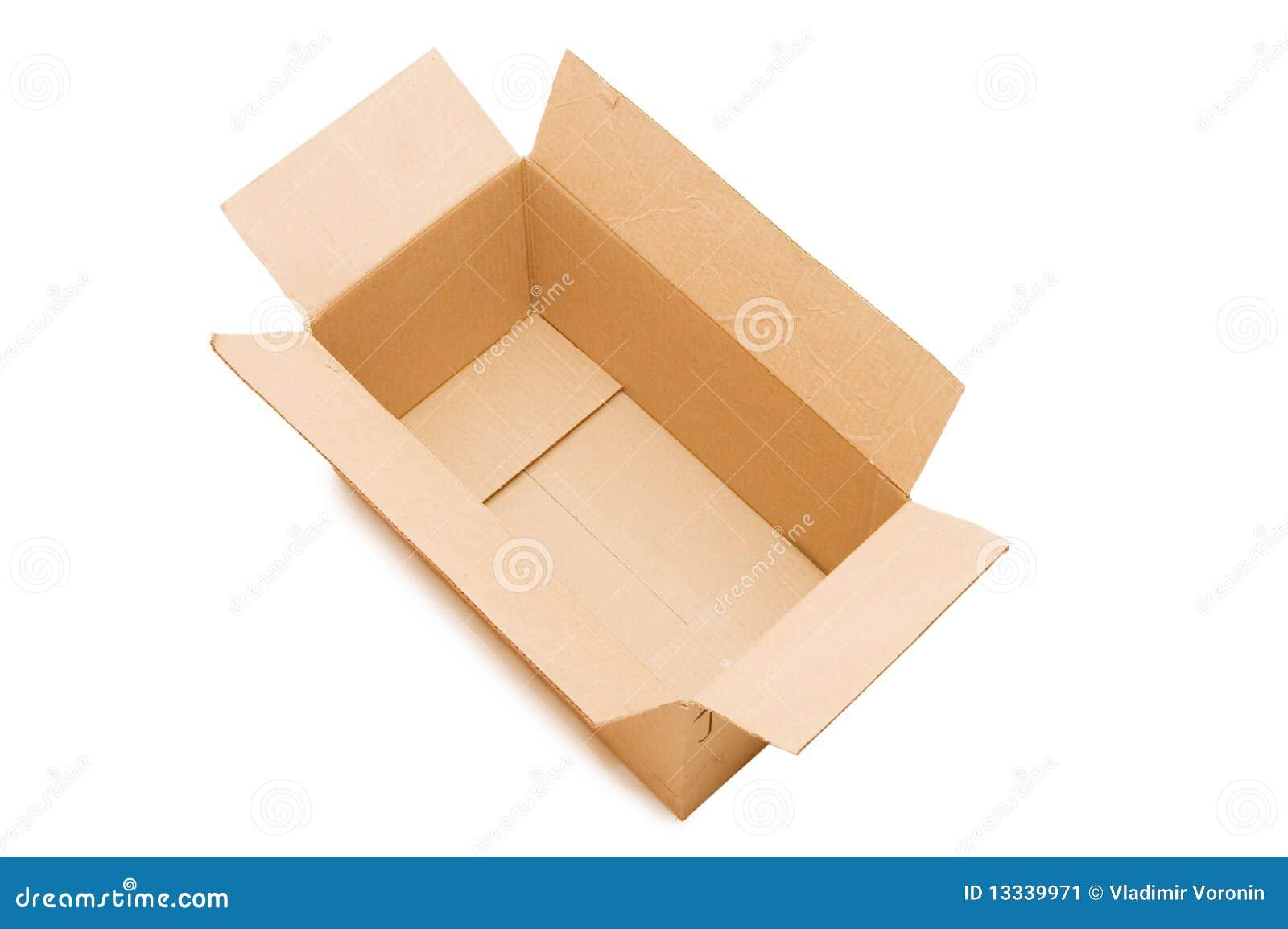 Pudełko pusty otwiera papier