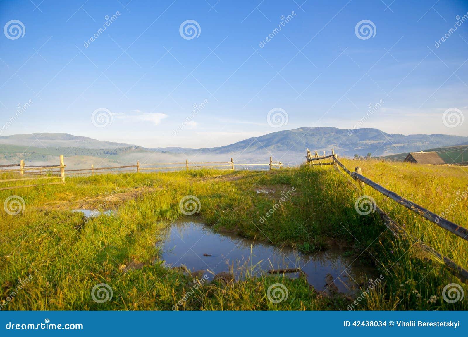 Pudele en las montañas, cárpatas, Ucrania, Europa