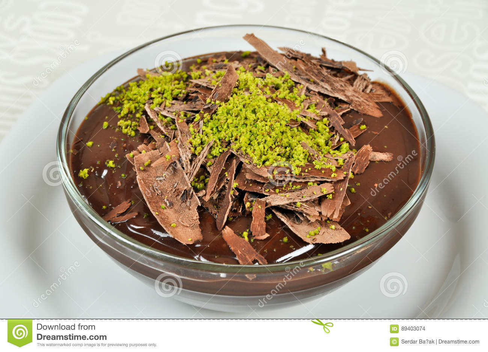 Pudim de chocolate delicioso