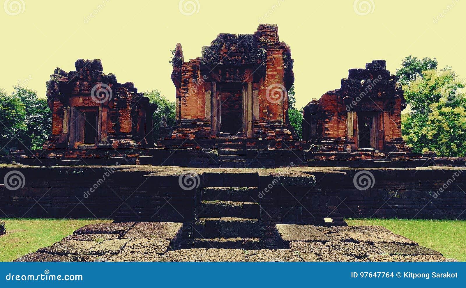 Pueainoi van kasteelpueai Noi/Ku bij khon-Kaen