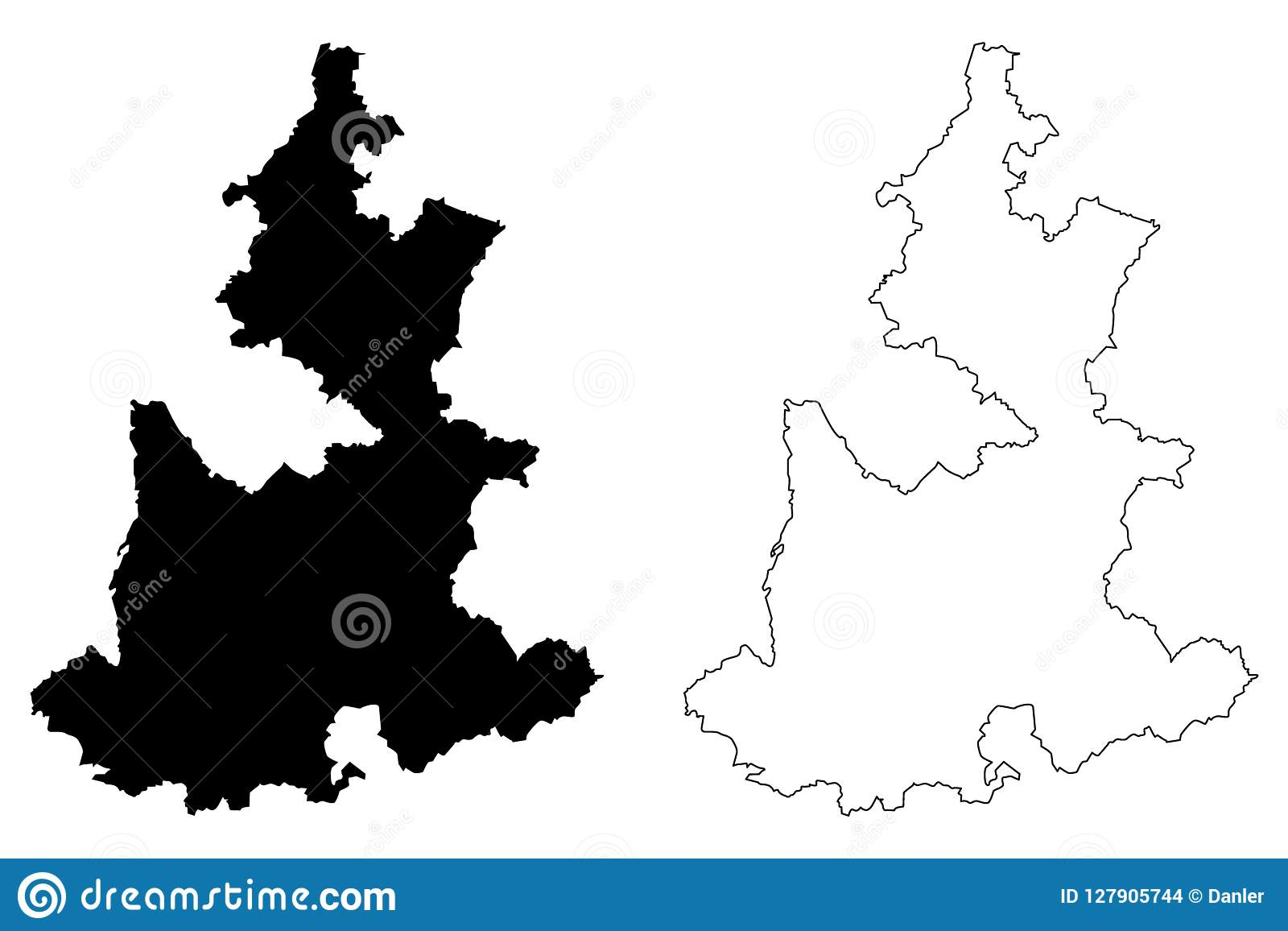 State Mexico Map.Puebla Map Vector Stock Vector Illustration Of America 127905744