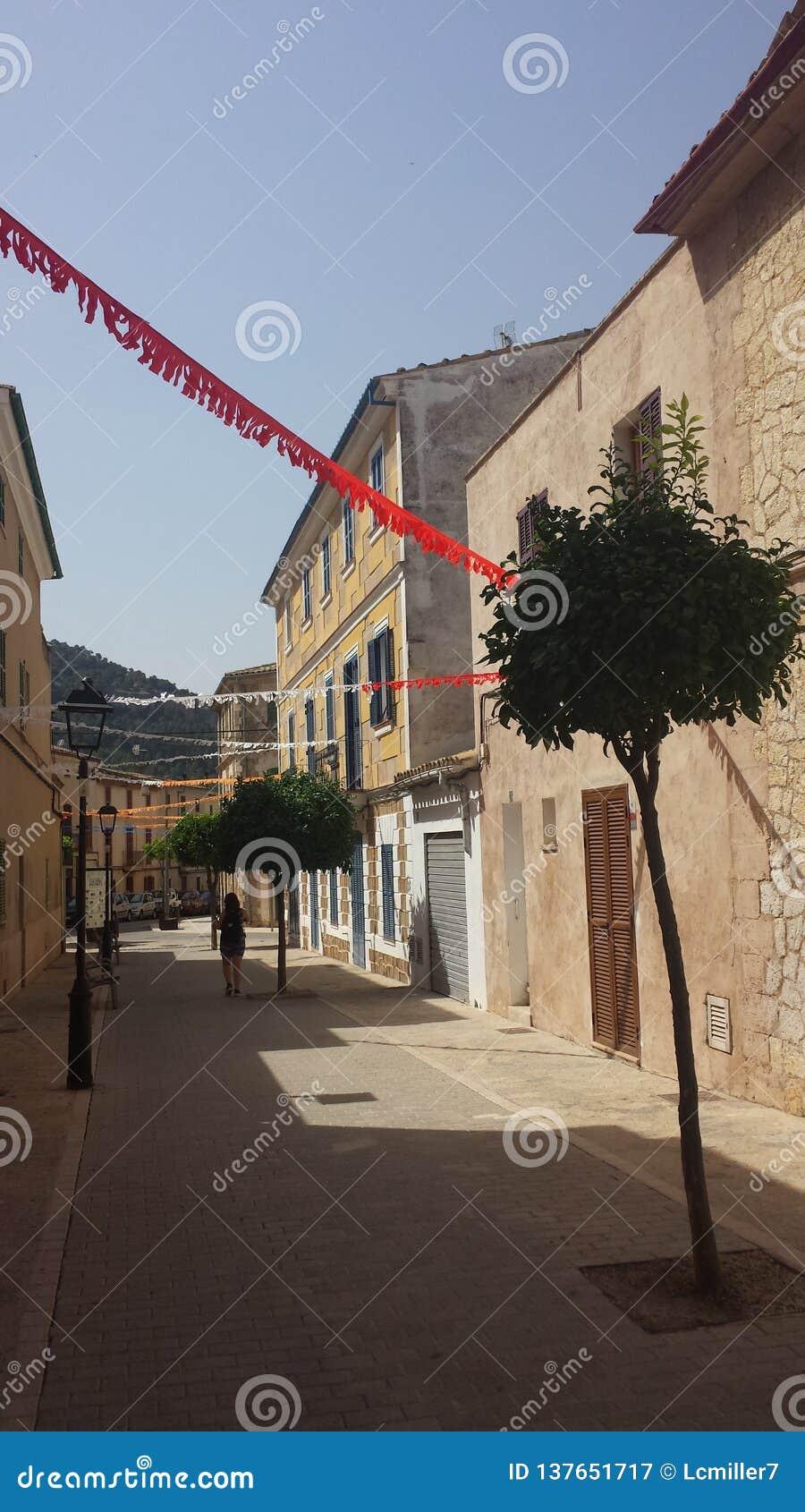 Pueblo Calle Majorca Fiesta de Andraitx