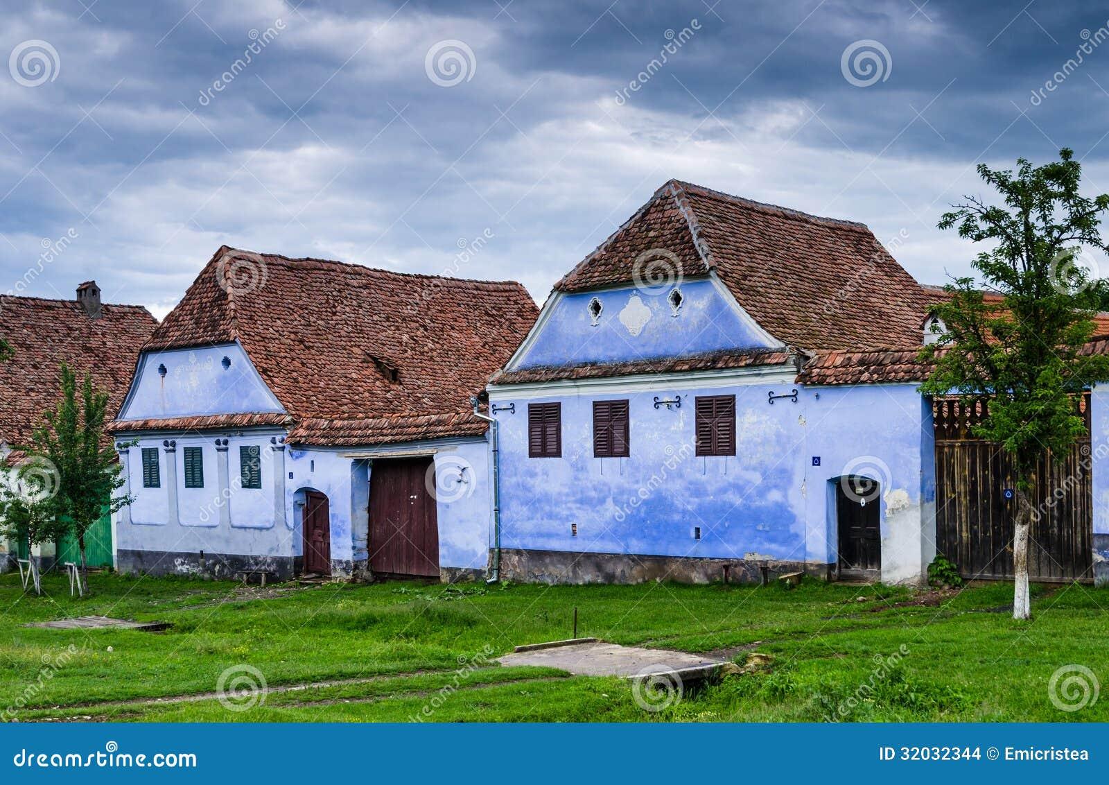 Pueblo de Viscri en Transilvania, Rumania