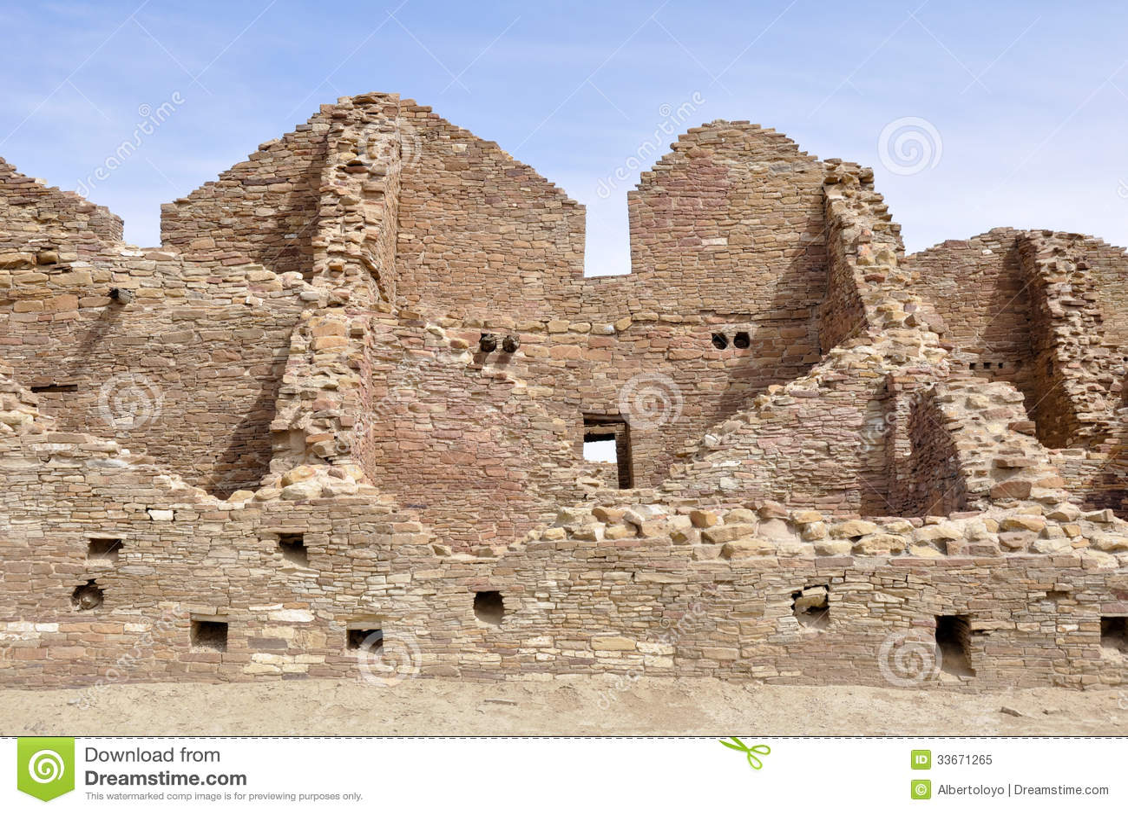 Pueblo del Arroyo ruins, Chaco Canyon, New Mexico (USA)