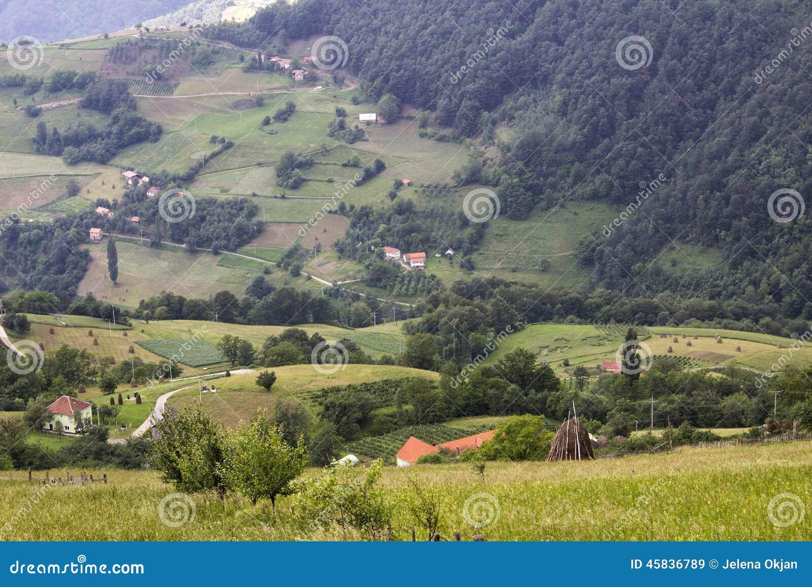 Pueblo en Serbia