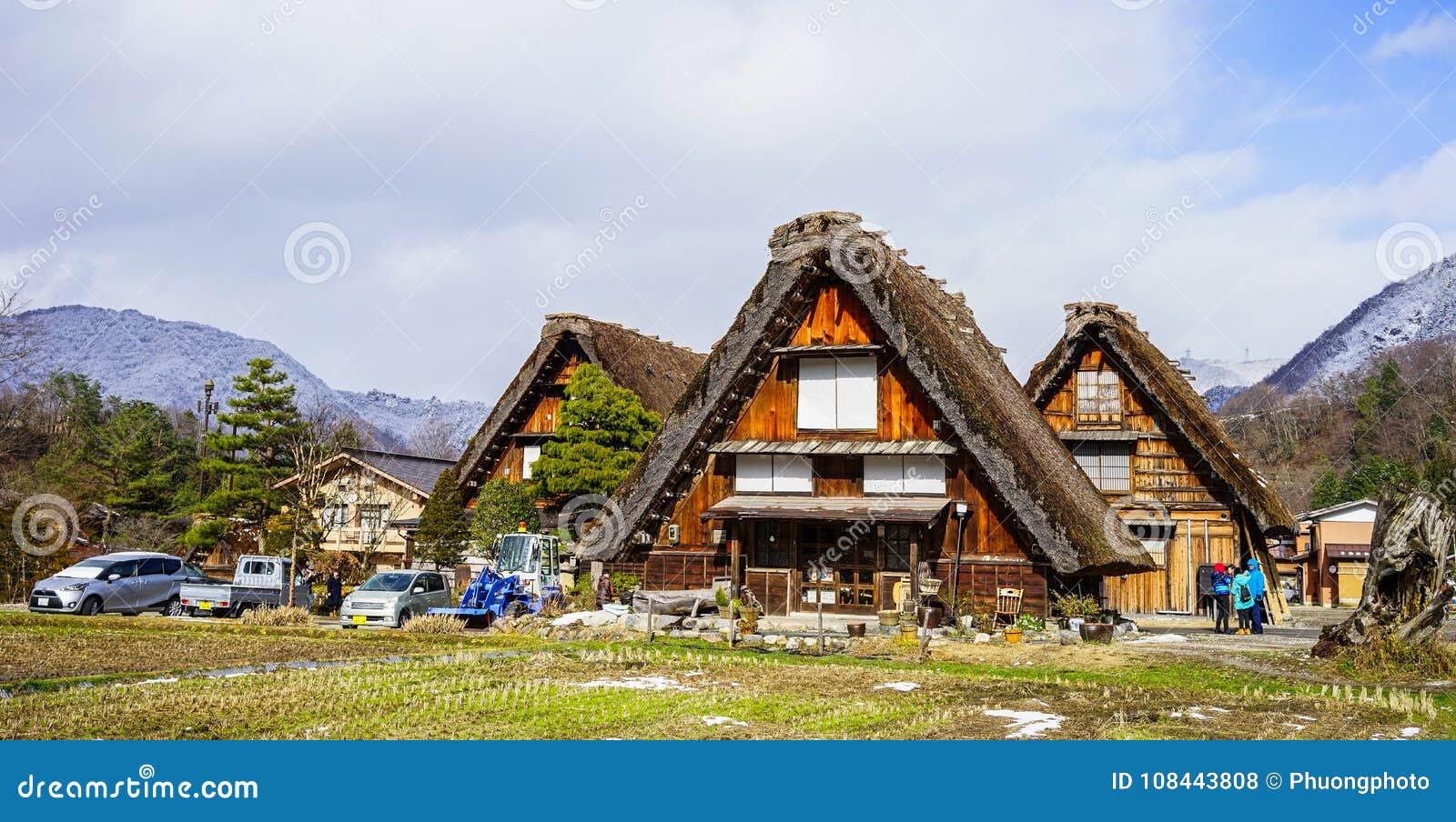Pueblo histórico de Shirakawago en Gifu, Japón