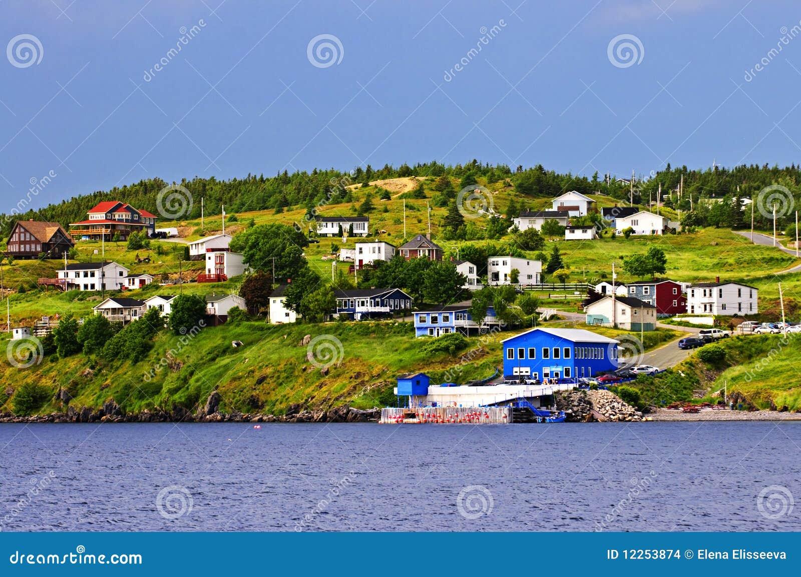Pueblo pesquero en Terranova