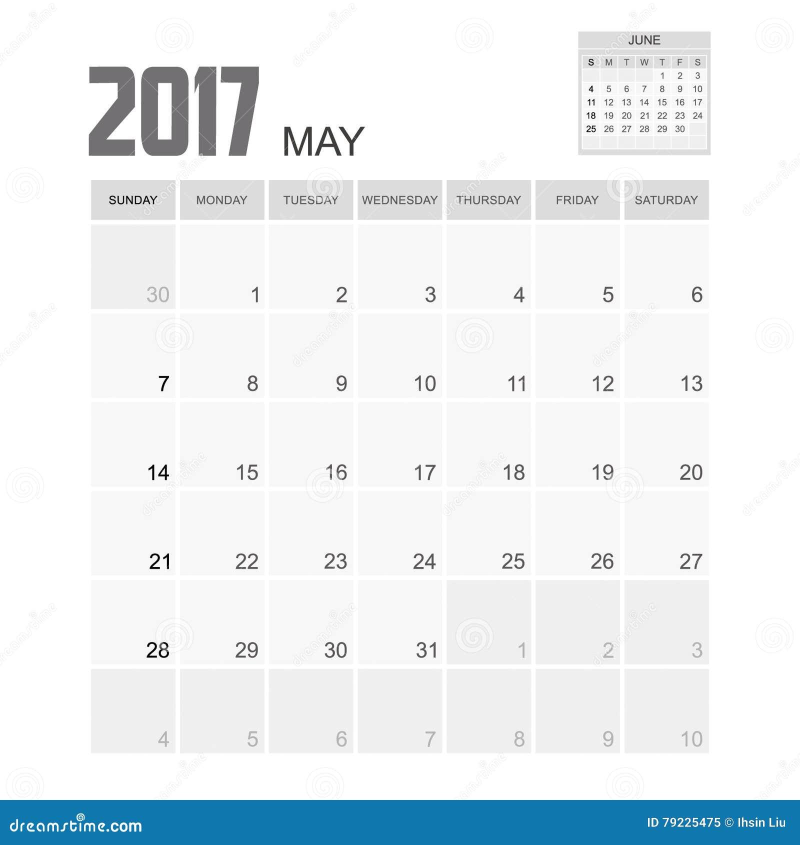 puede hacer calendarios diseo del ilustracin del vector