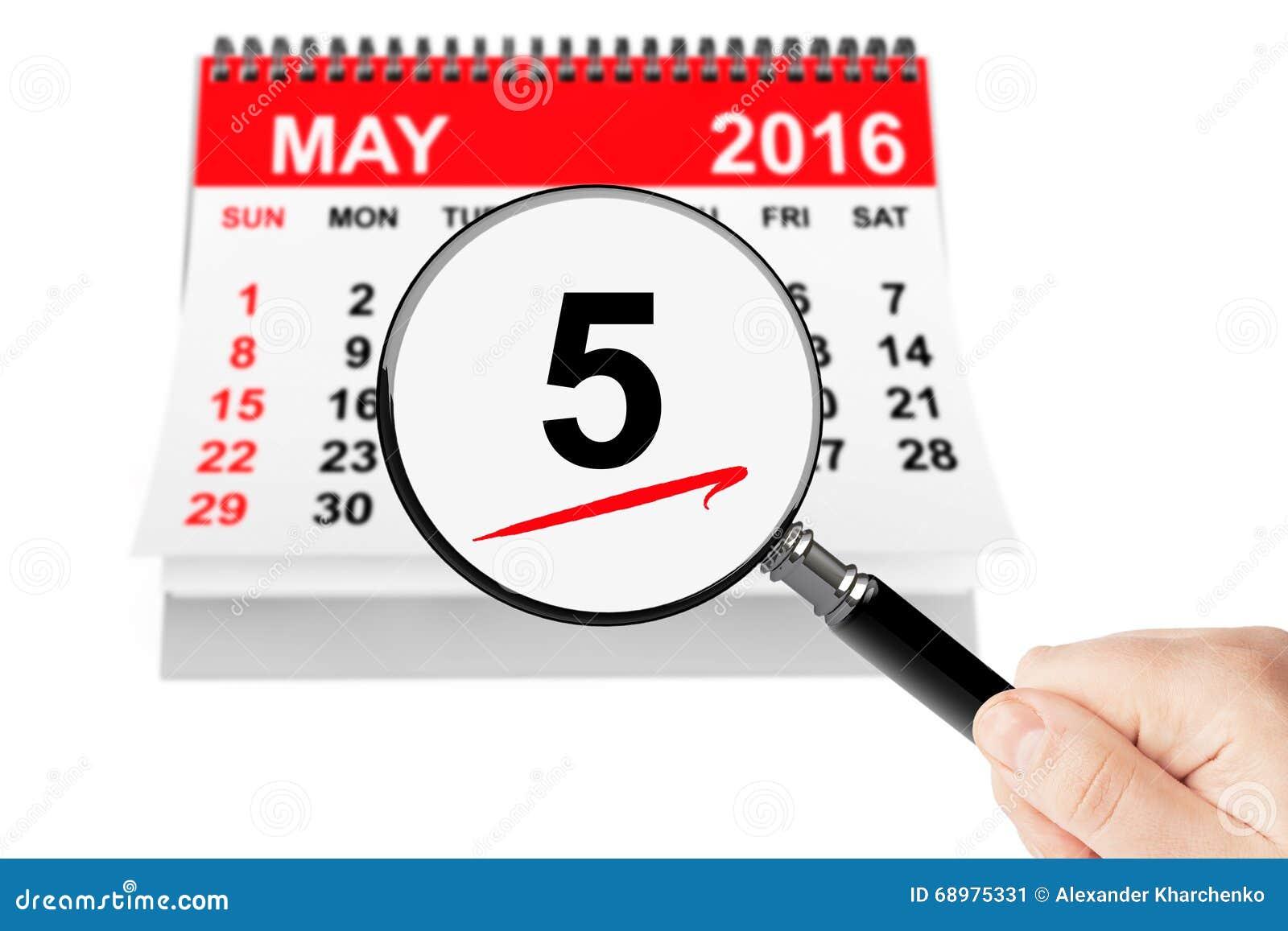5 pueden el calendario 2016 con la lupa