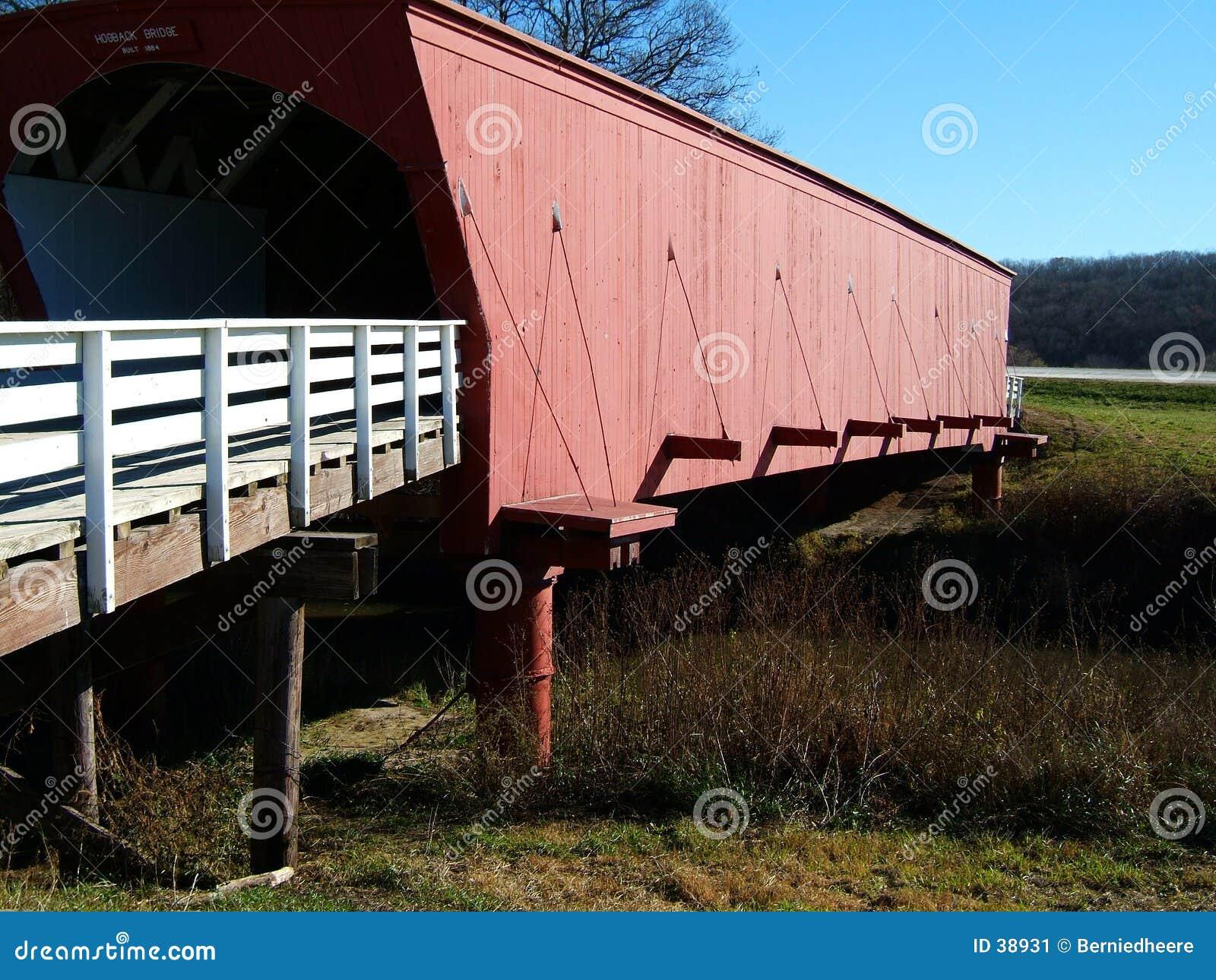 Download Puente Cubierto Del Hogback, Condado De Madison, Iowa Imagen de archivo - Imagen de historia, pilar: 38931