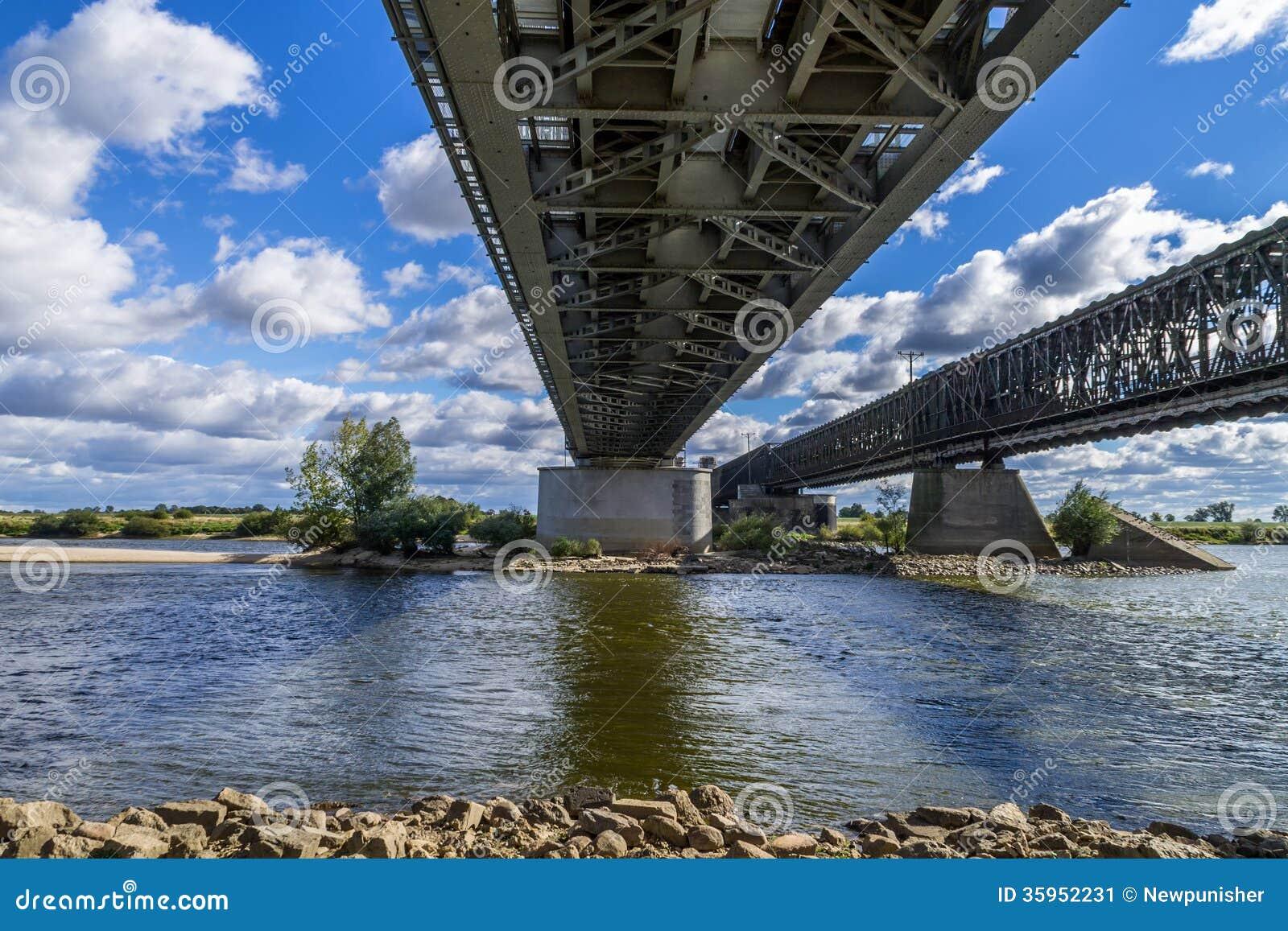 Puente de acero del ferrocarril