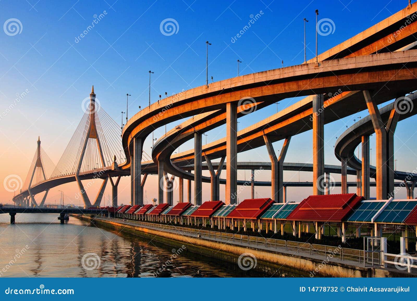 Puente de Bhumibol en Tailandia