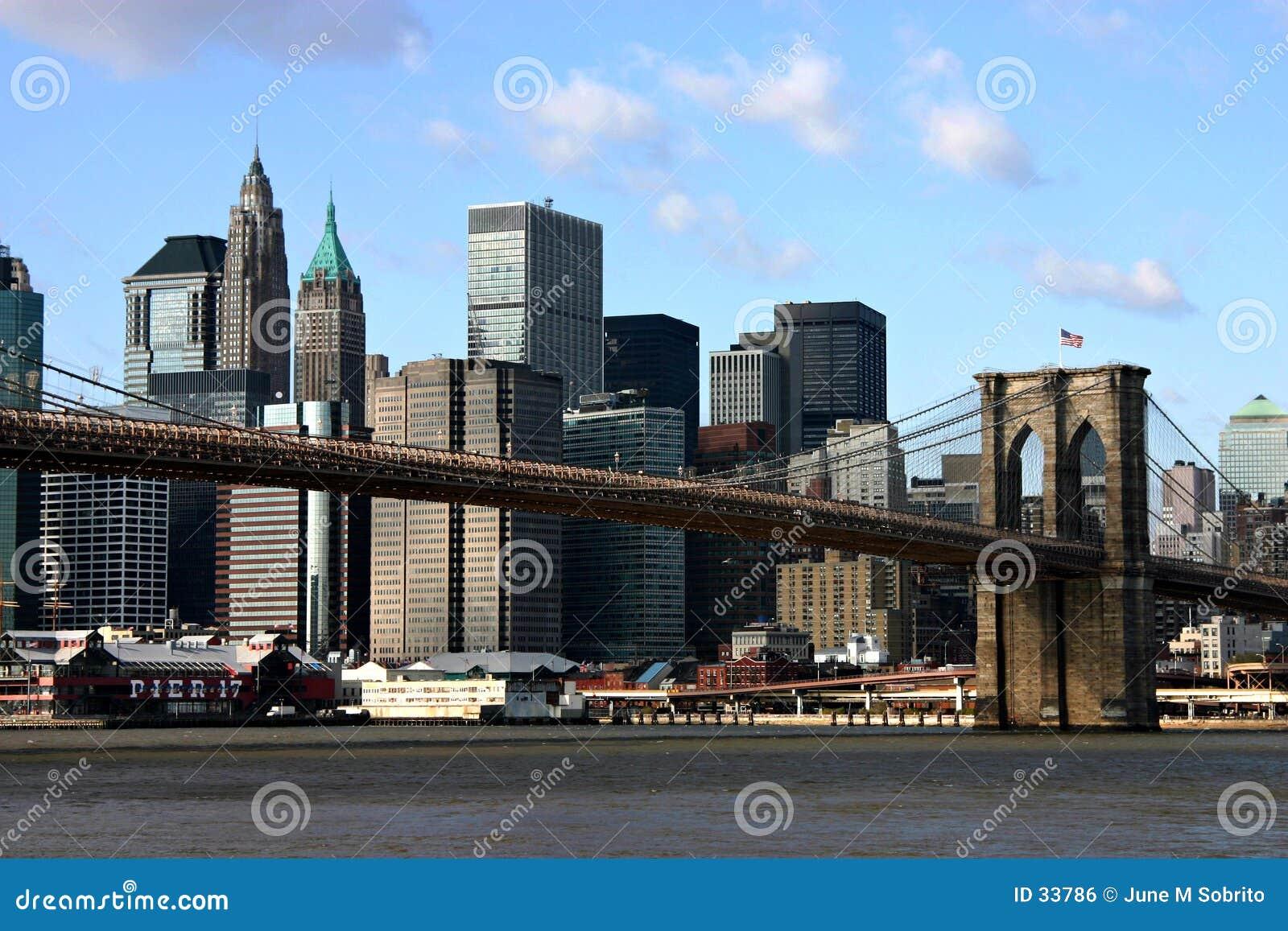 Download Puente de Brooklyn foto de archivo. Imagen de brooklyn, puente - 33786