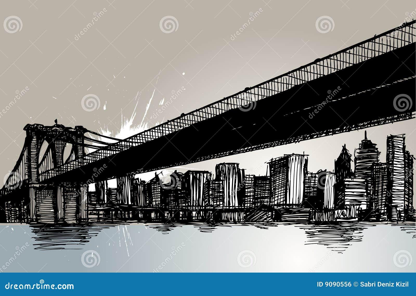 Puente de Brooklyn y New York City