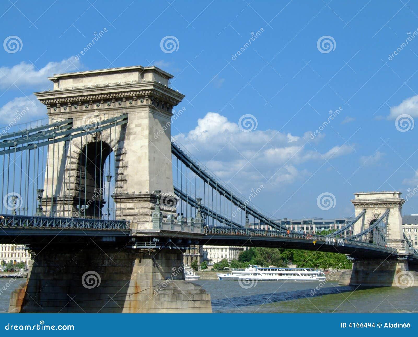 Puente de cadena de Széchenyi en Budapest