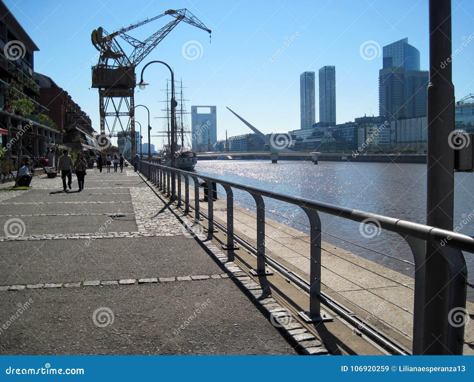 Puente de la Mujer Puerto Madero Buenos Aires Argentine