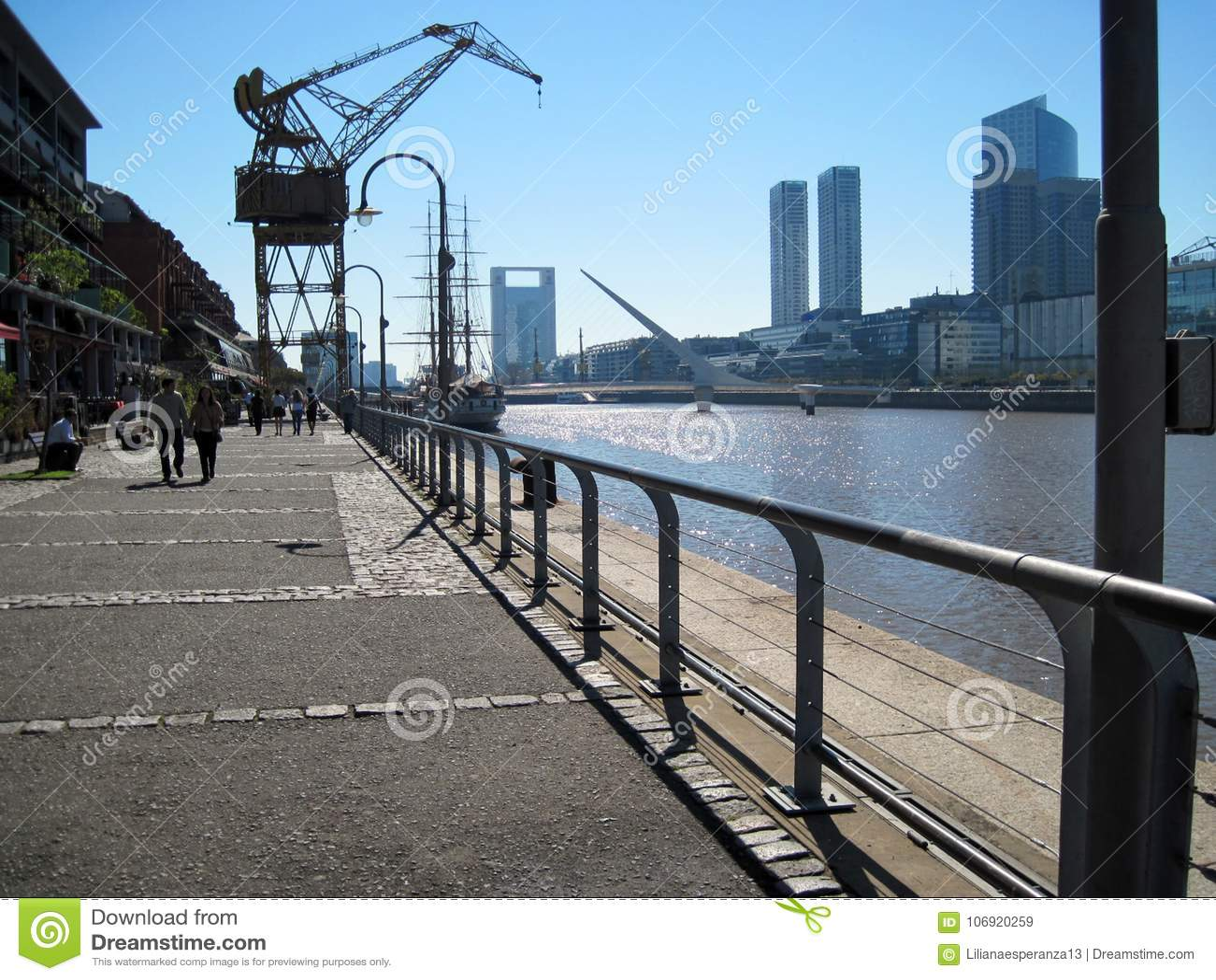 Puente de la Mujer Puerto Madero Buenos Aires Argentinien