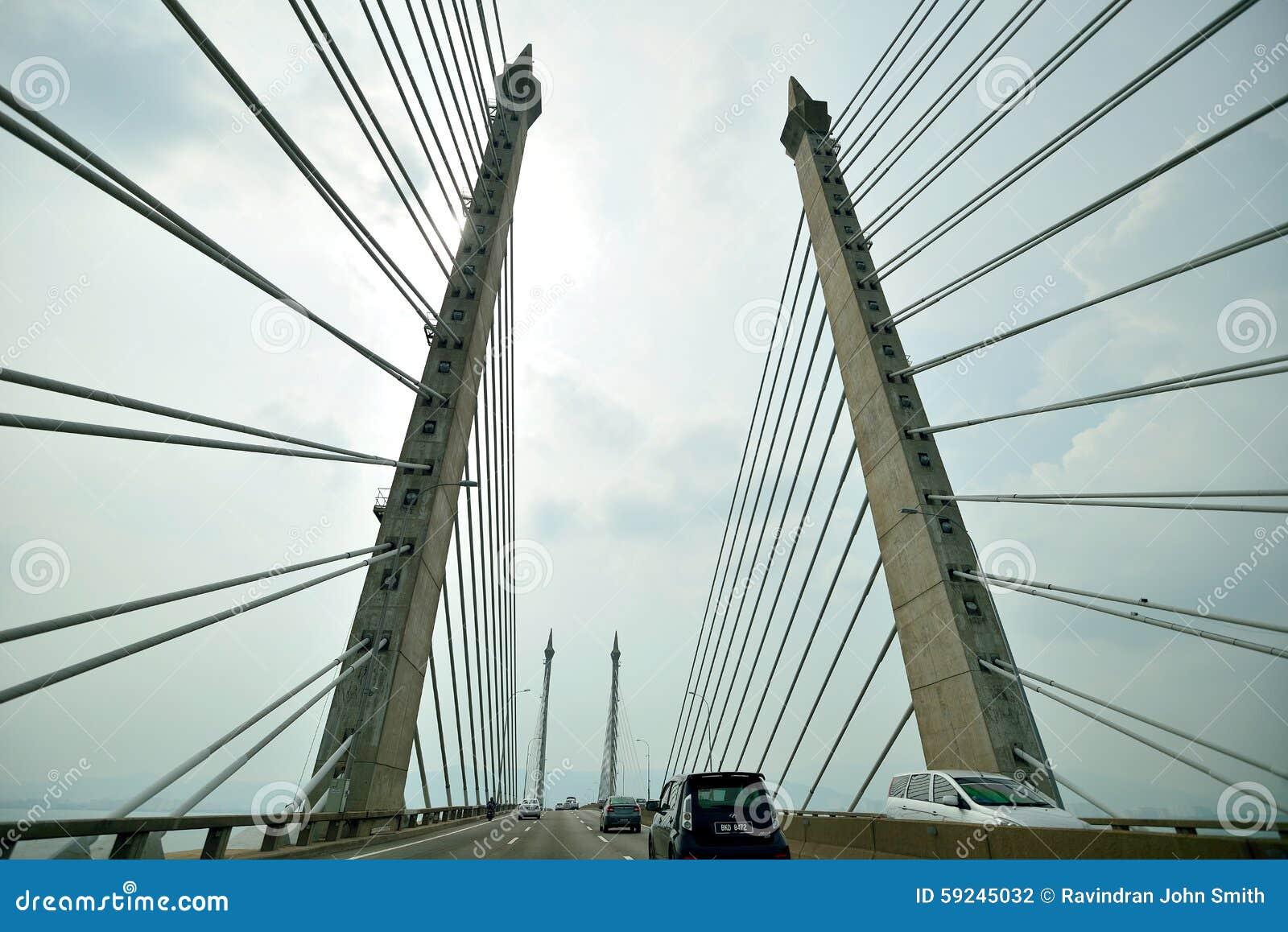 Download Puente de Penang fotografía editorial. Imagen de configuración - 59245032