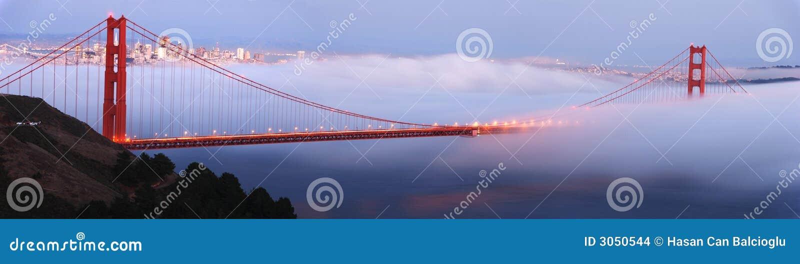 Puente de puerta de oro panorámico