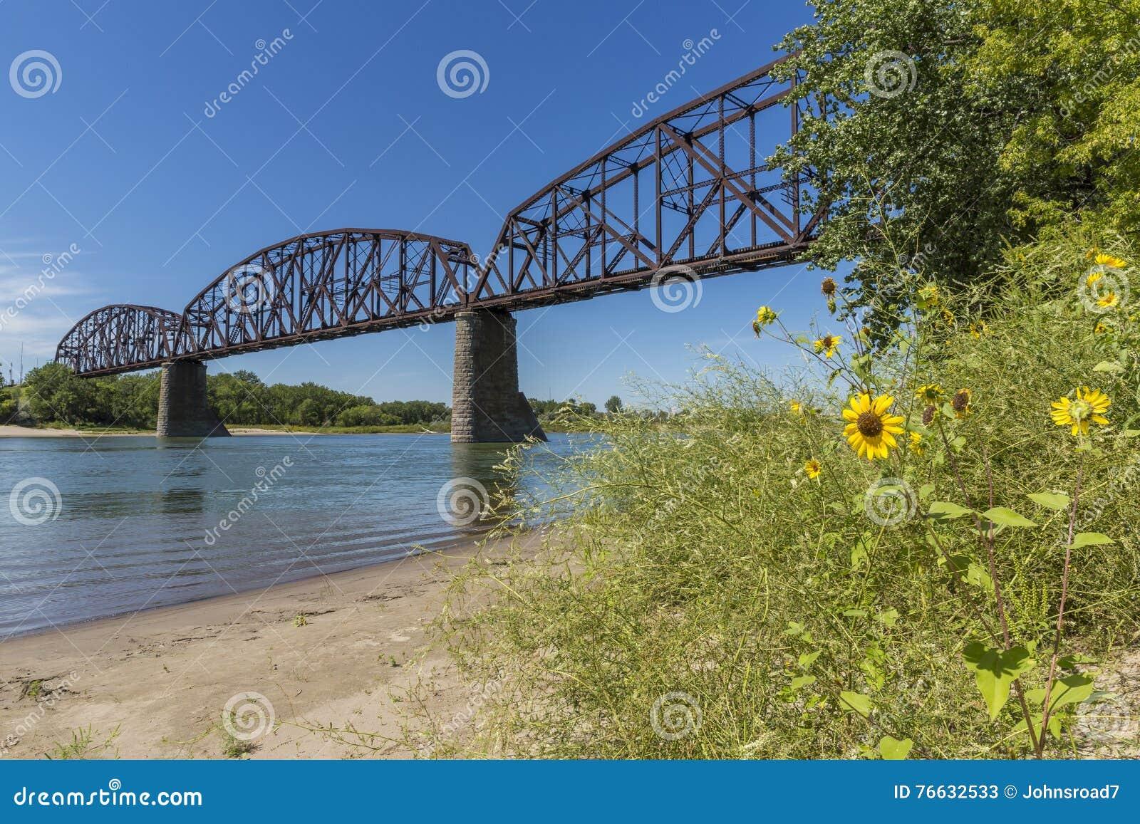 Puente del ferrocarril sobre el río Missouri