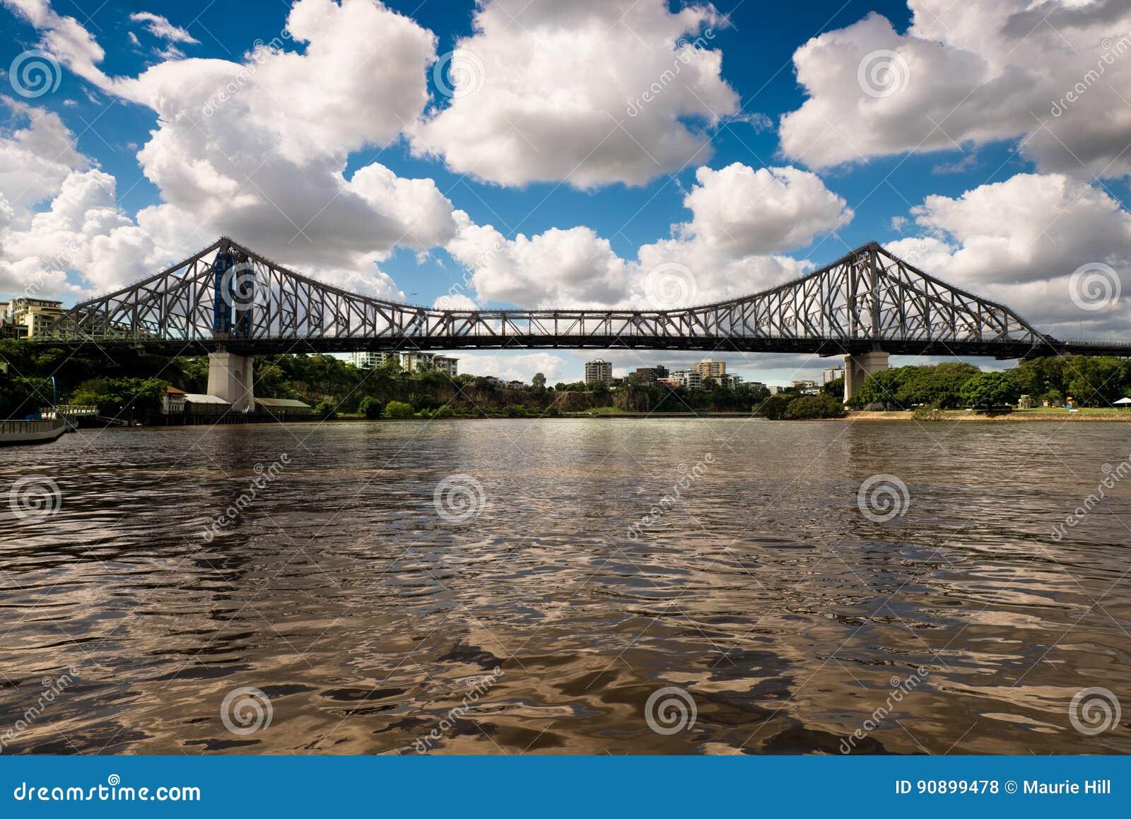 Puente famoso de la historia del ` s de Brisbane