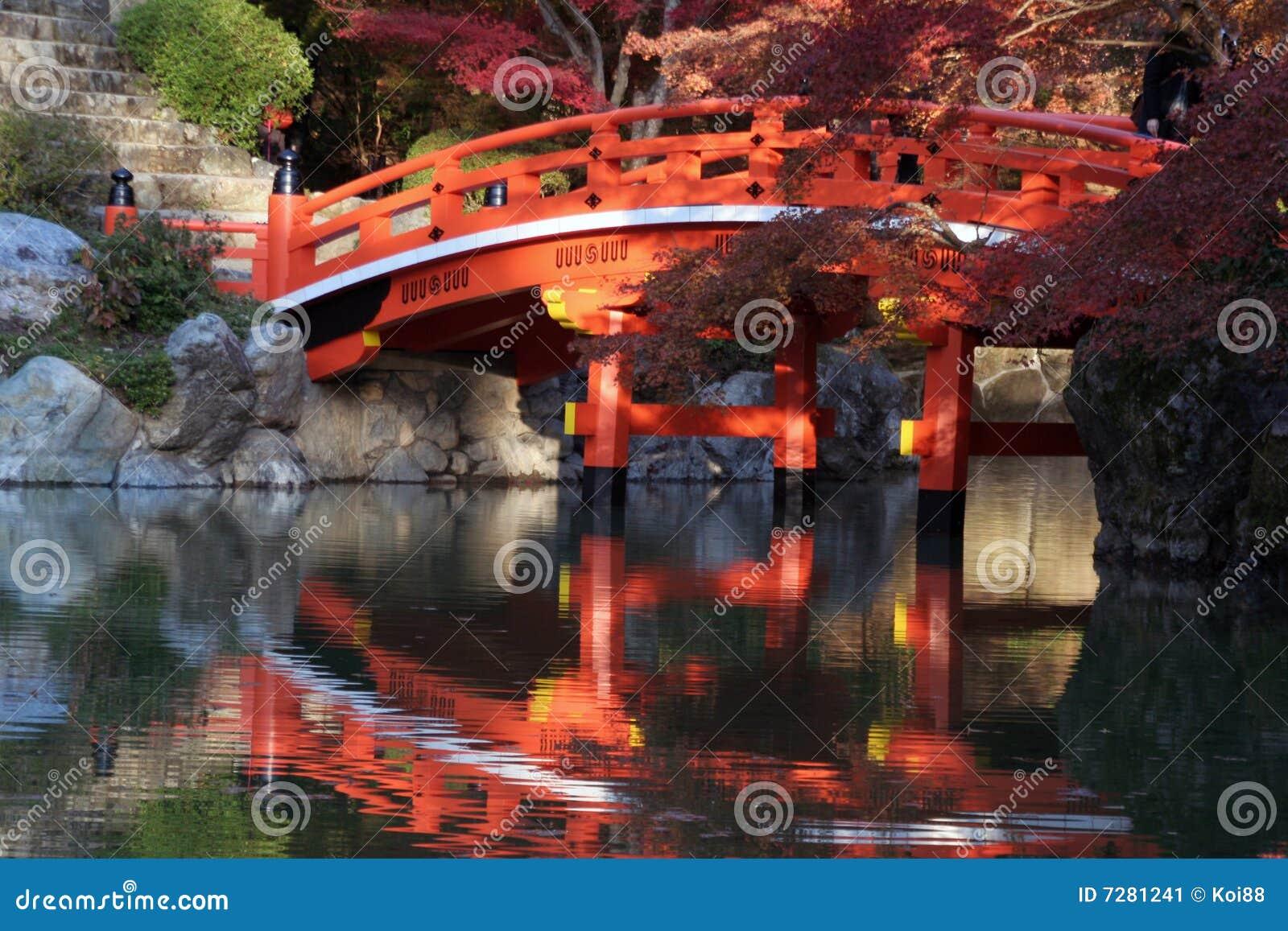 Puente japonés en caída