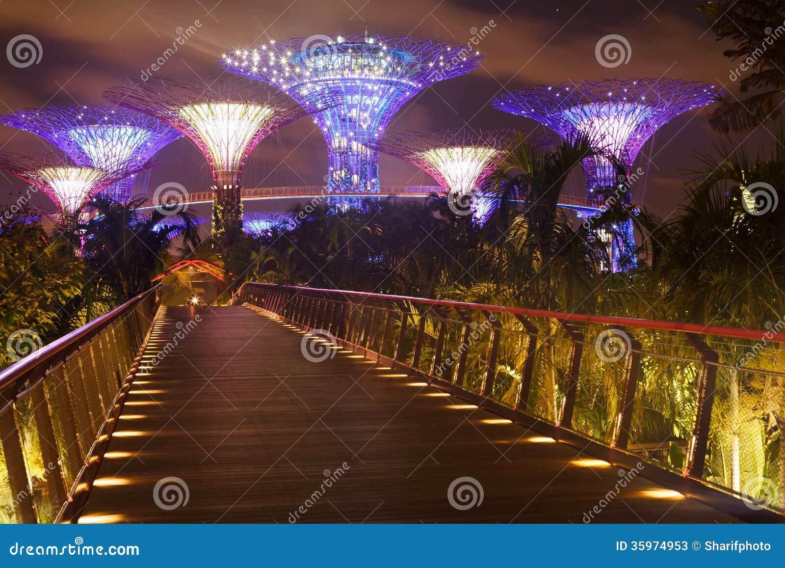 Puente a los jardines por la bahía