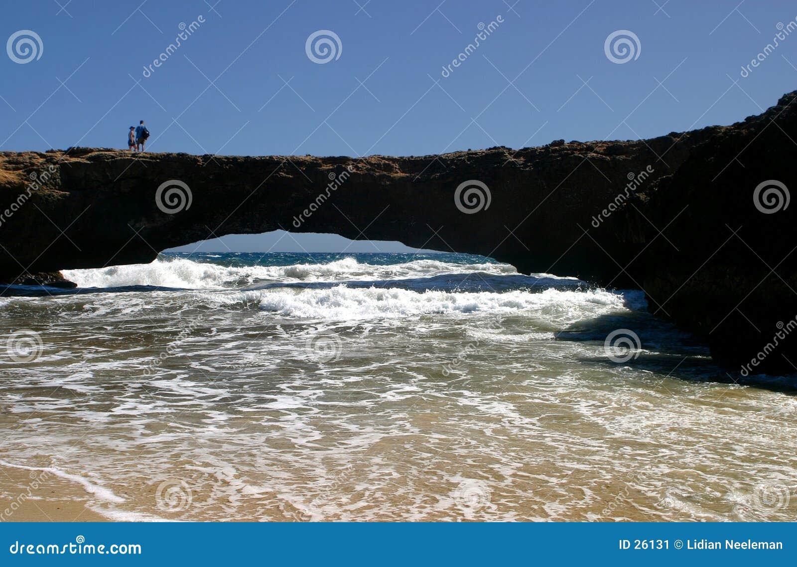 Download Puente natural imagen de archivo. Imagen de turismo, roca - 26131