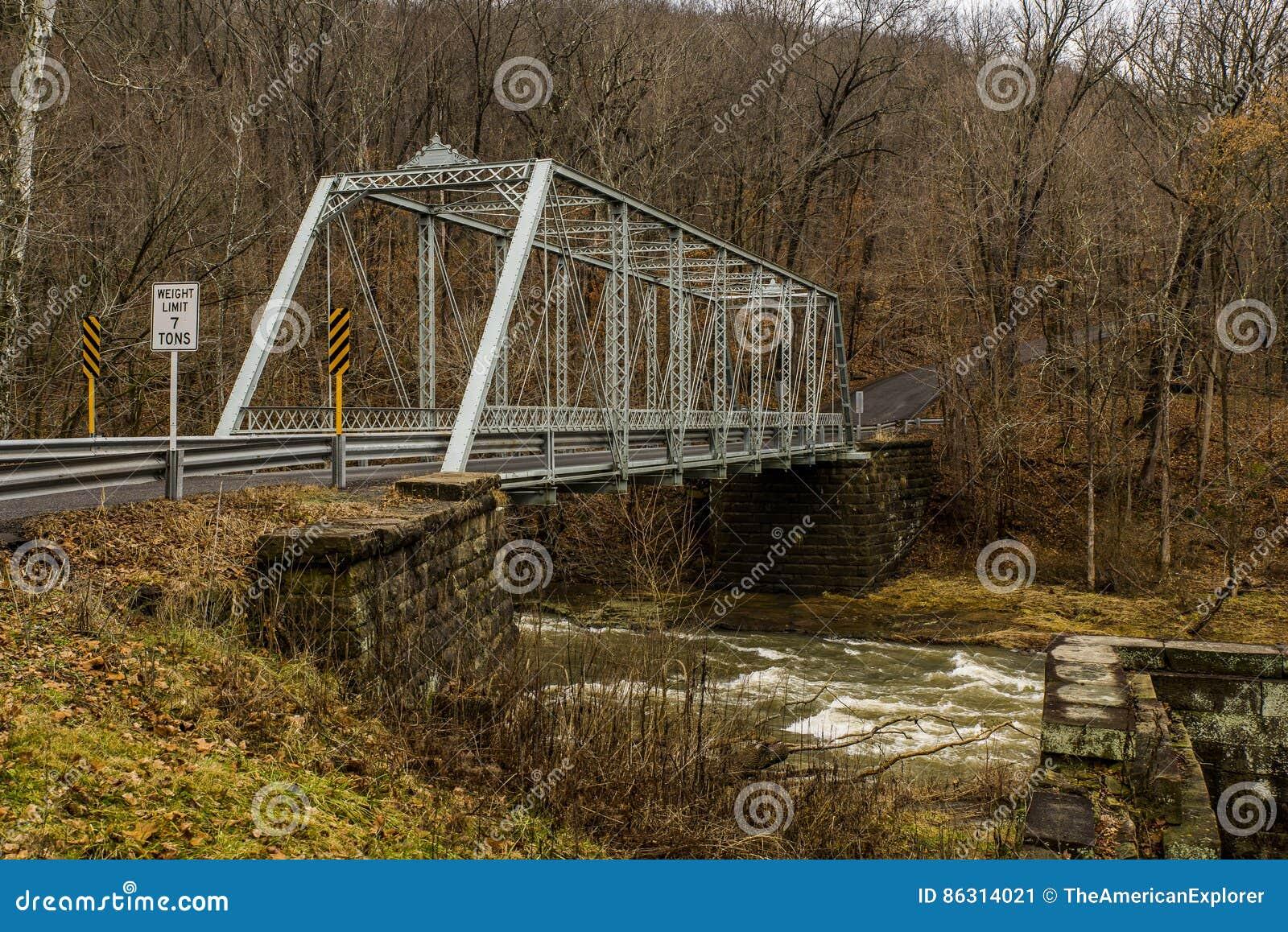 Puente rural, histórico - Fredericktown, Ohio