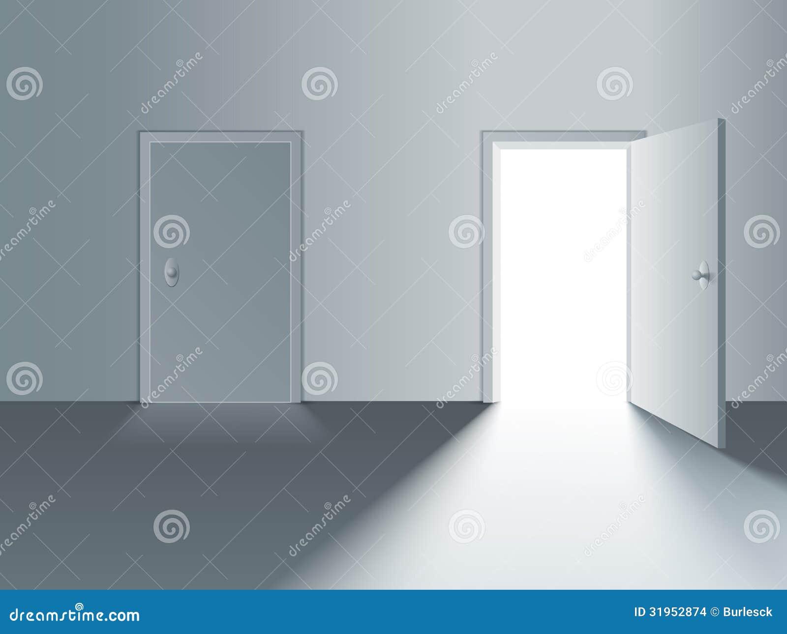 Puerta Cerrada Y Abierta Imagenes De Archivo