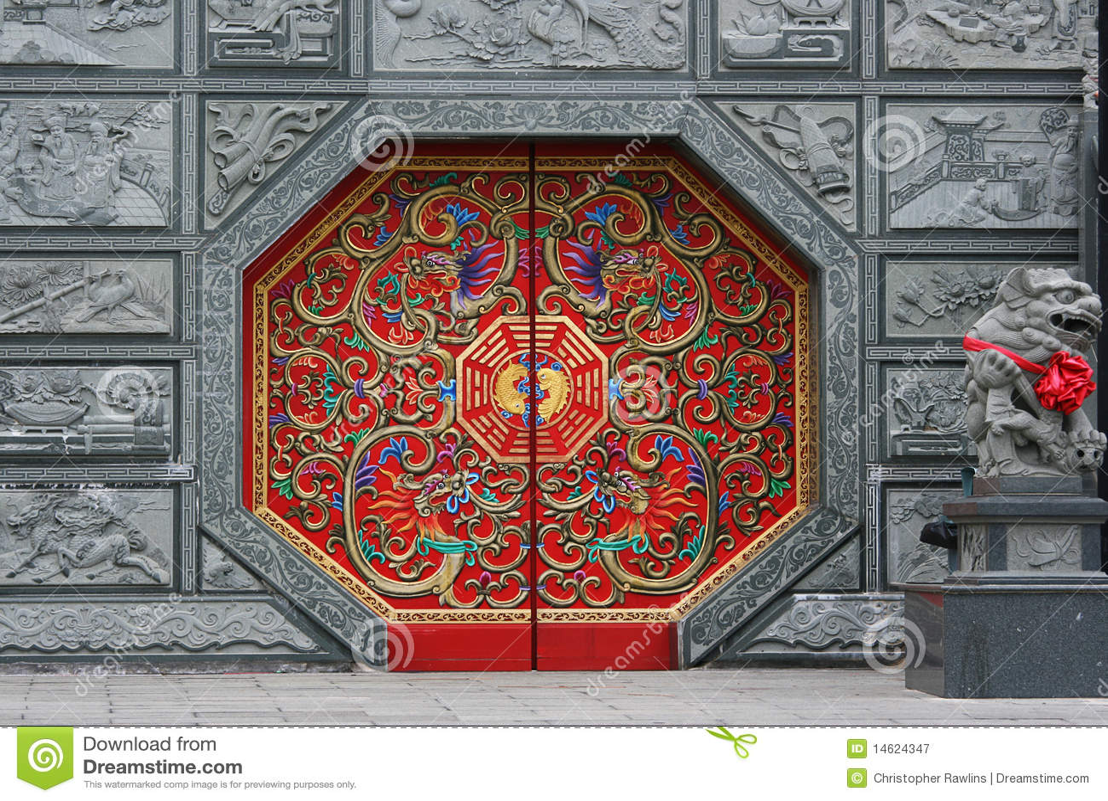Puerta china roja