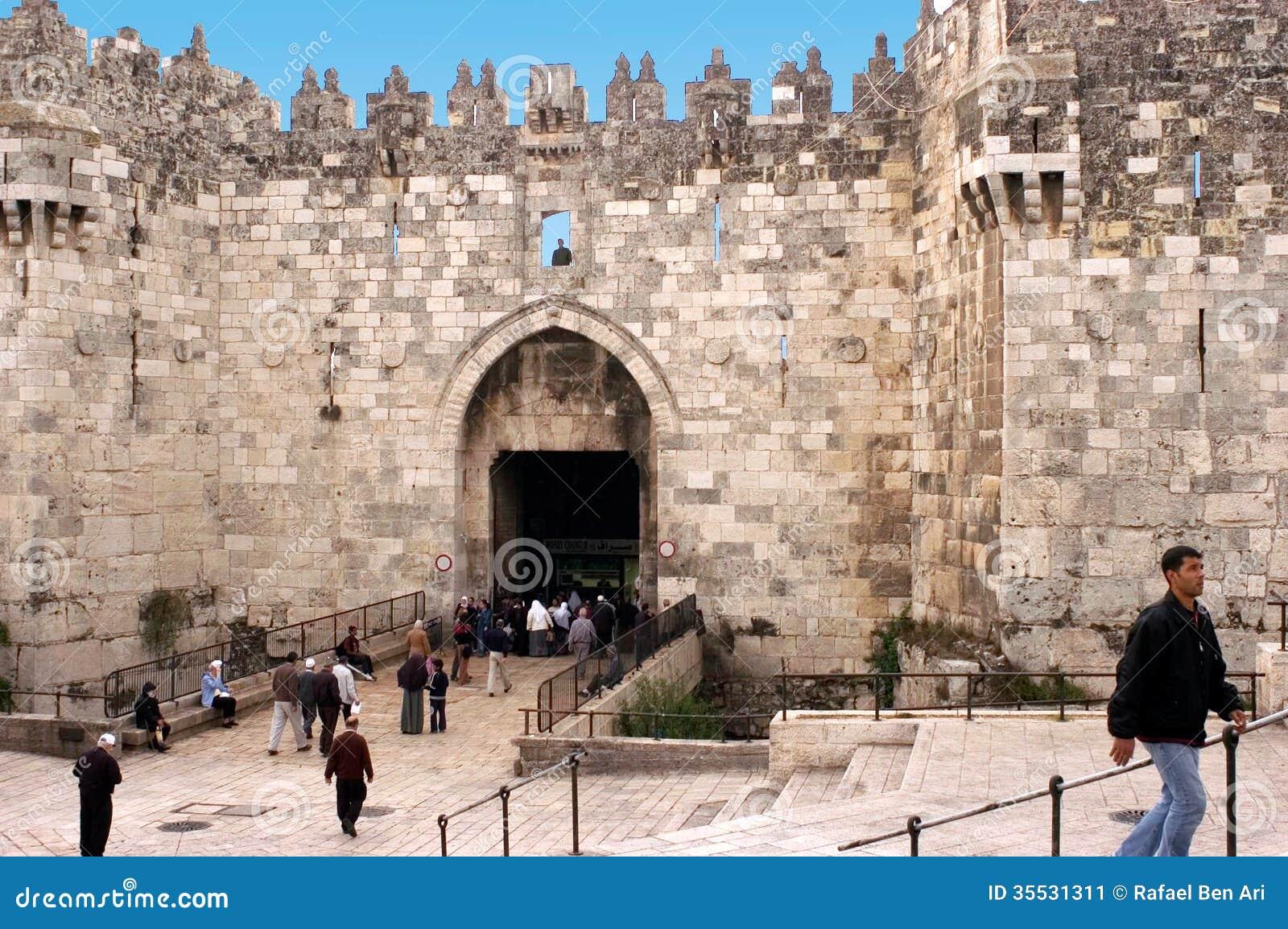 Puerta de damasco en la ciudad vieja de jerusal n israel - Fotos de damasco ...
