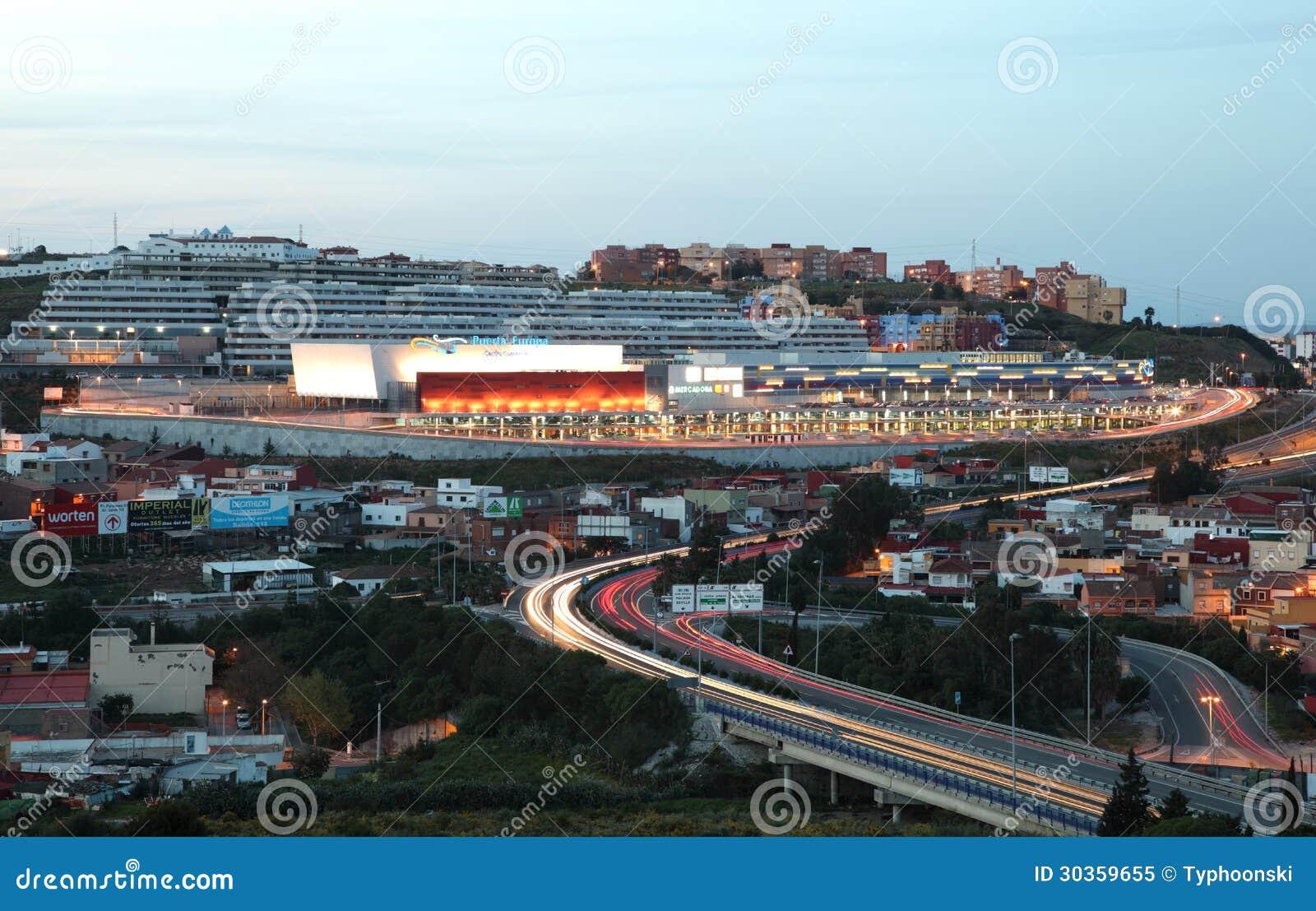 Puerta de europa center algeciras editorial image image - Puerta europa almeria ...
