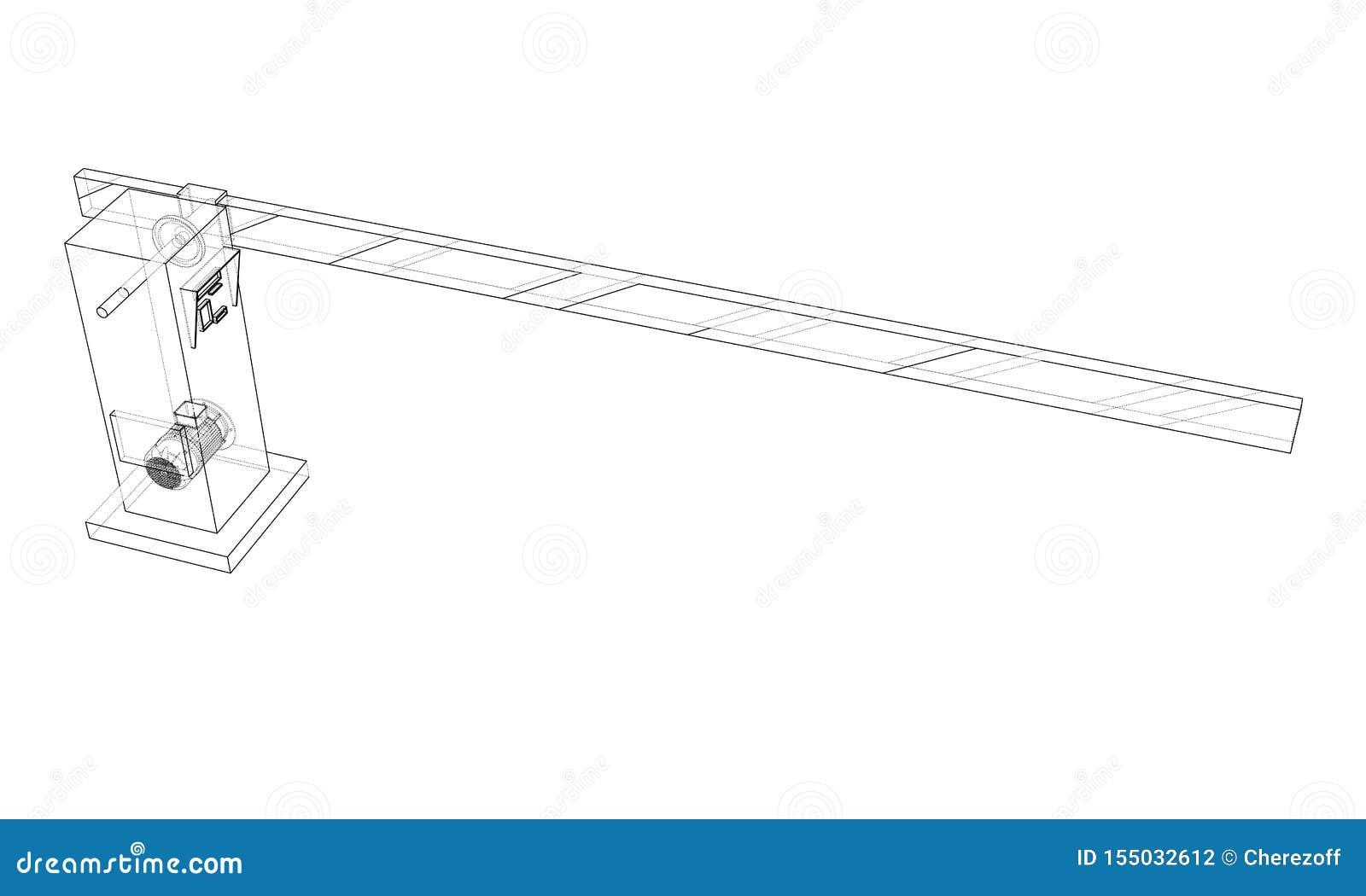 Puerta de la barrera del esquema Vector