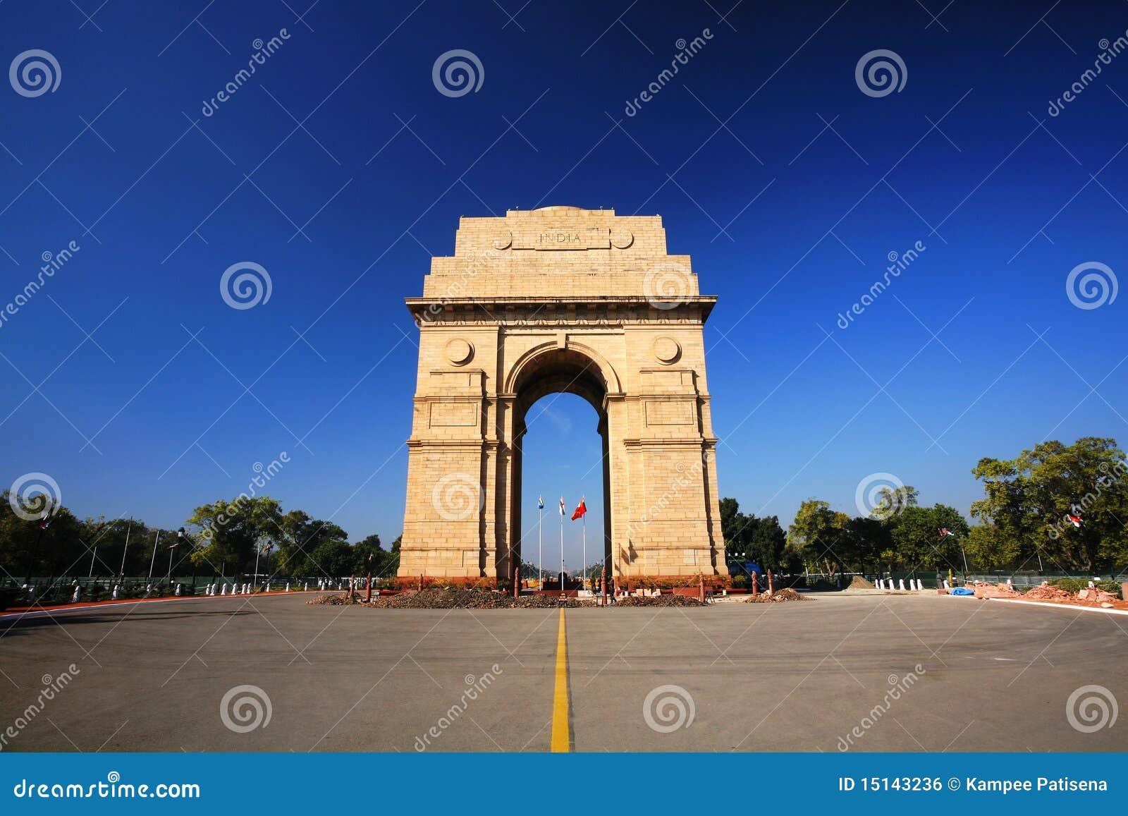 Puerta de la India en Nueva Deli, la India