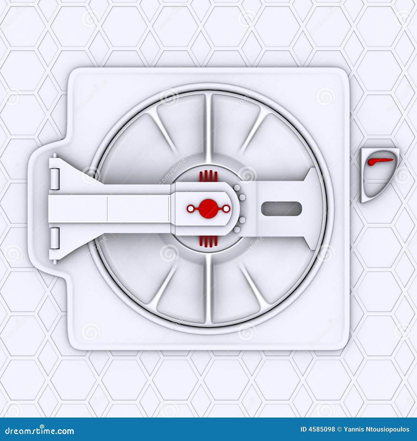 puerta de la nave espacial fotos de archivo libres de