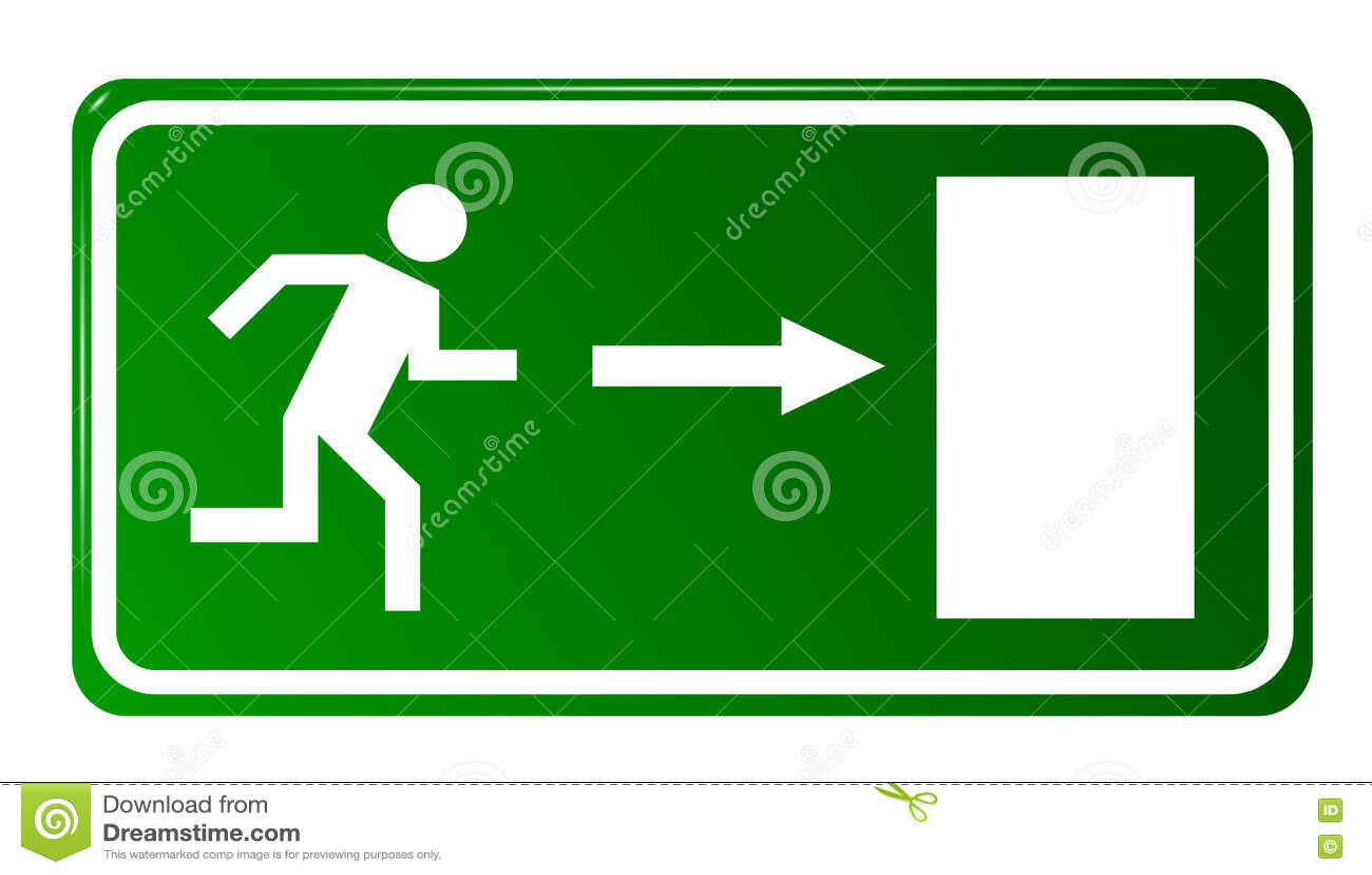 Puerta de salida de emergencia stock de ilustraci n for Precio de puertas salida de emergencia