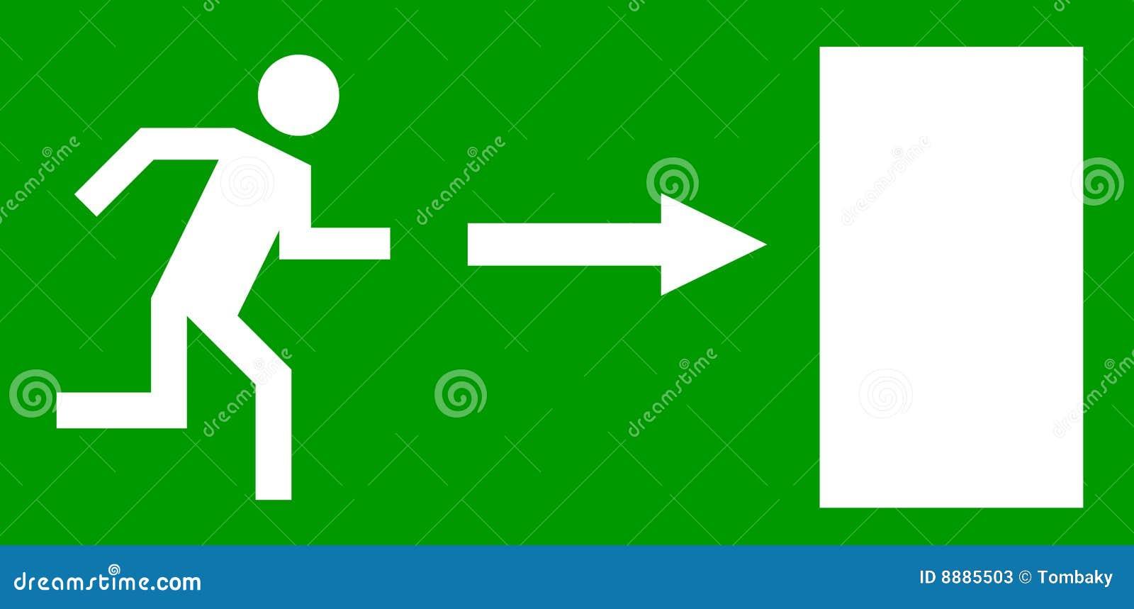 Puerta de salida de emergencia ilustraci n del vector for Precio de puertas salida de emergencia