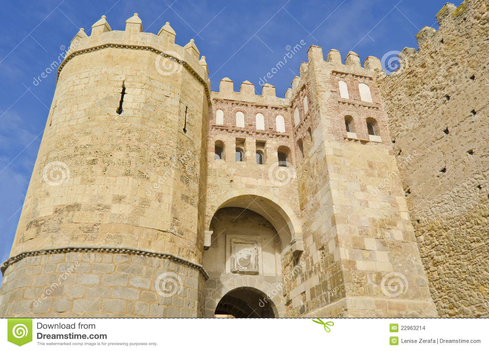 Puerta de san andres in segovia spain stock images - Puerta de segovia ...