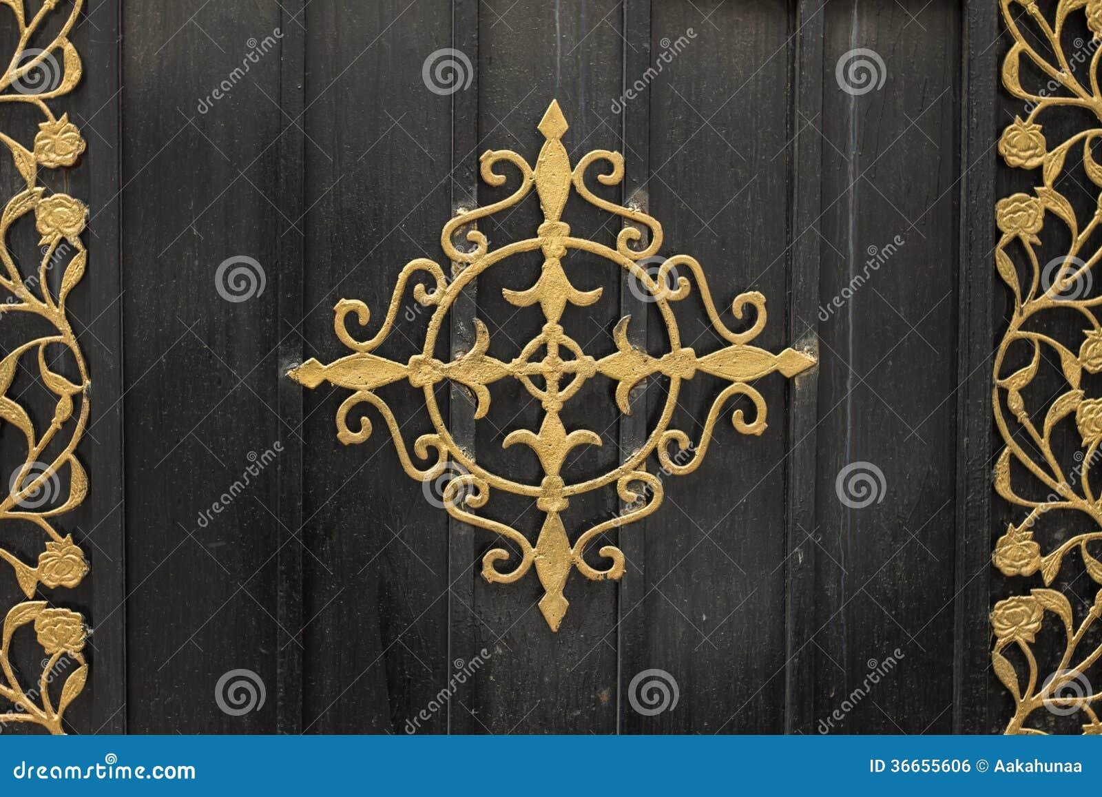 Puerta decoraci n del hierro labrado imagen de archivo for Lopez del hierro decoracion
