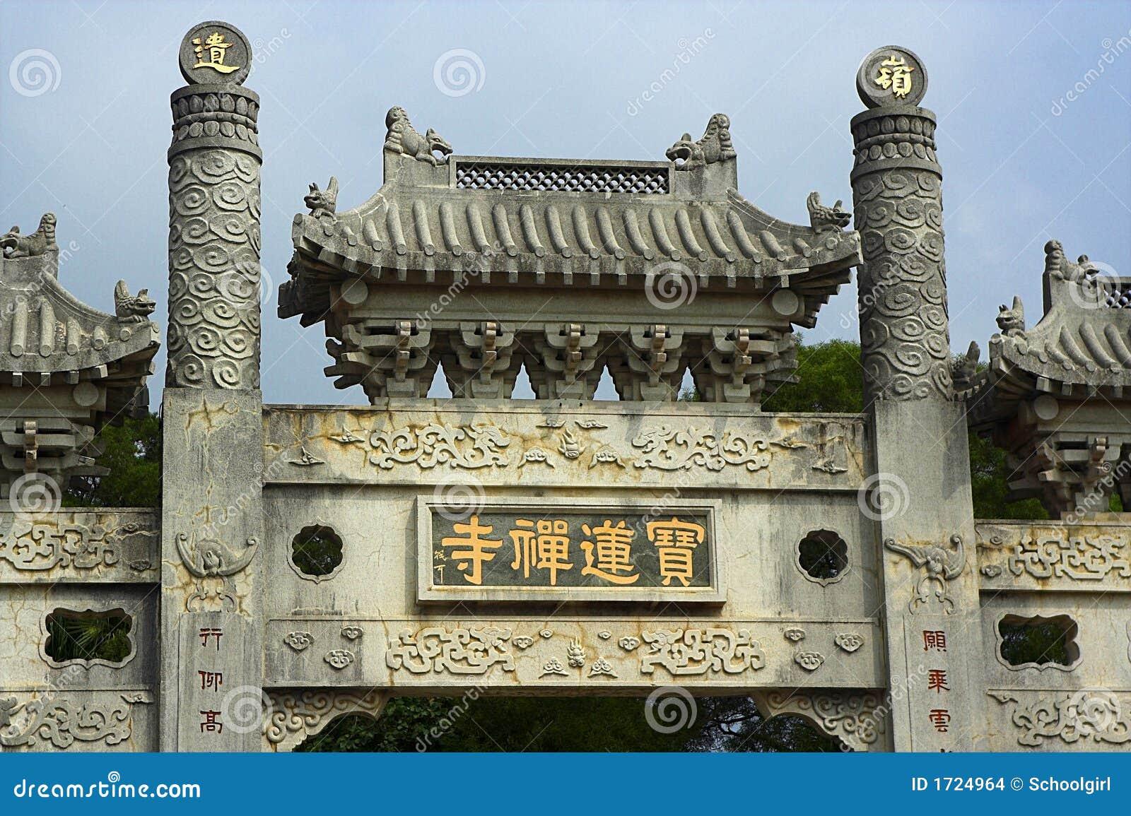Puerta del monasterio de PoLin
