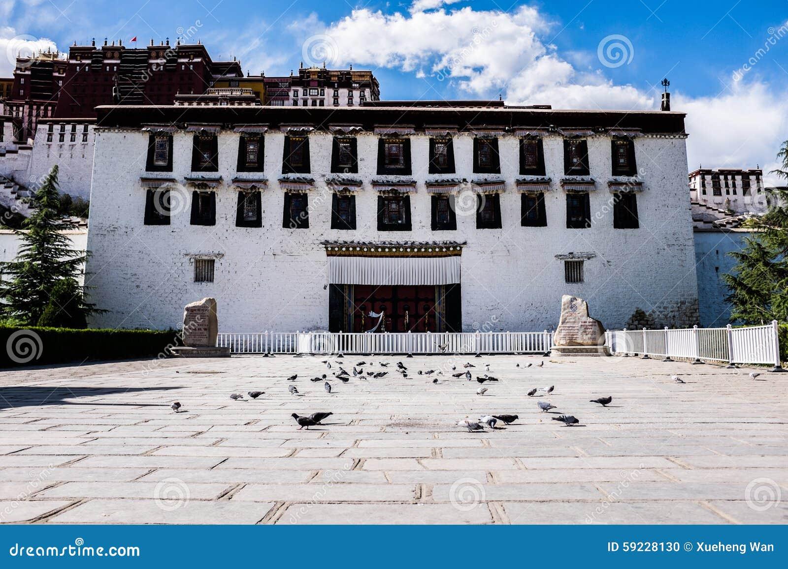 Download Puerta del palacio Potala foto de archivo. Imagen de china - 59228130