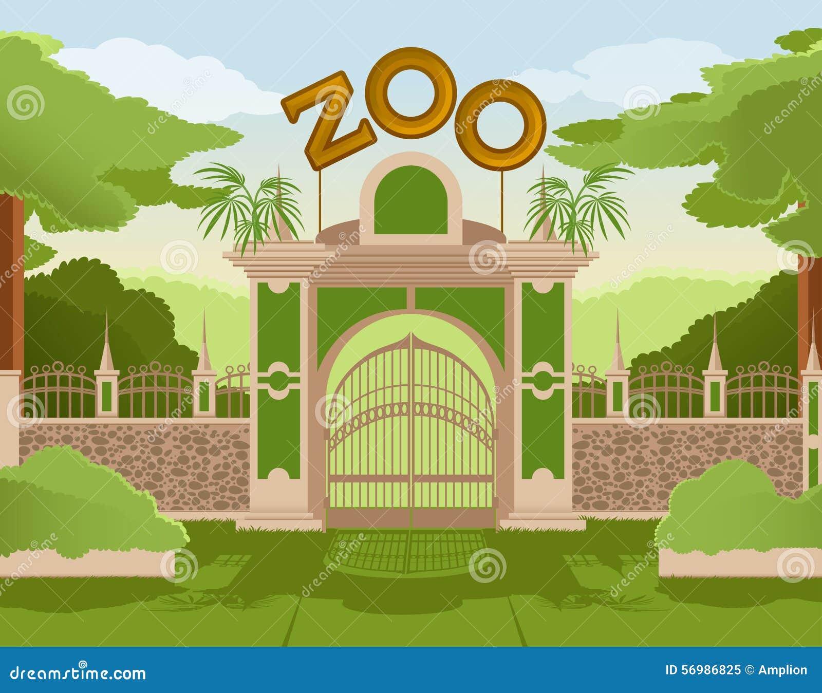 Puerta del parque zoológico
