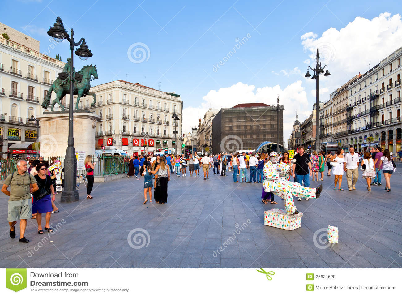 MADRID, SPAIN - 8 SEPTEMBER: Puerta del Sol, Madrid, one of the famous ...
